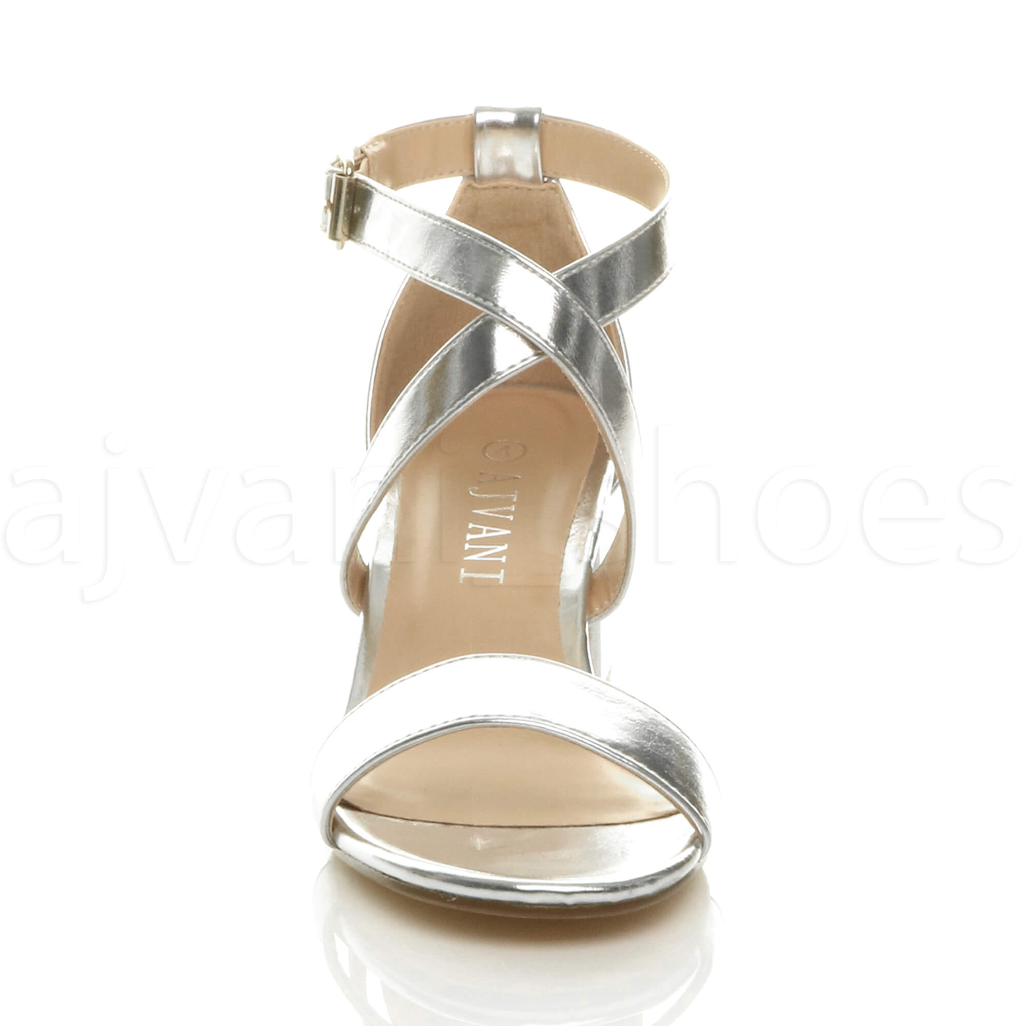 WOMENS-LADIES-MID-LOW-BLOCK-HEEL-CROSS-STRAPS-PARTY-STRAPPY-SANDALS-SHOES-SIZE thumbnail 83