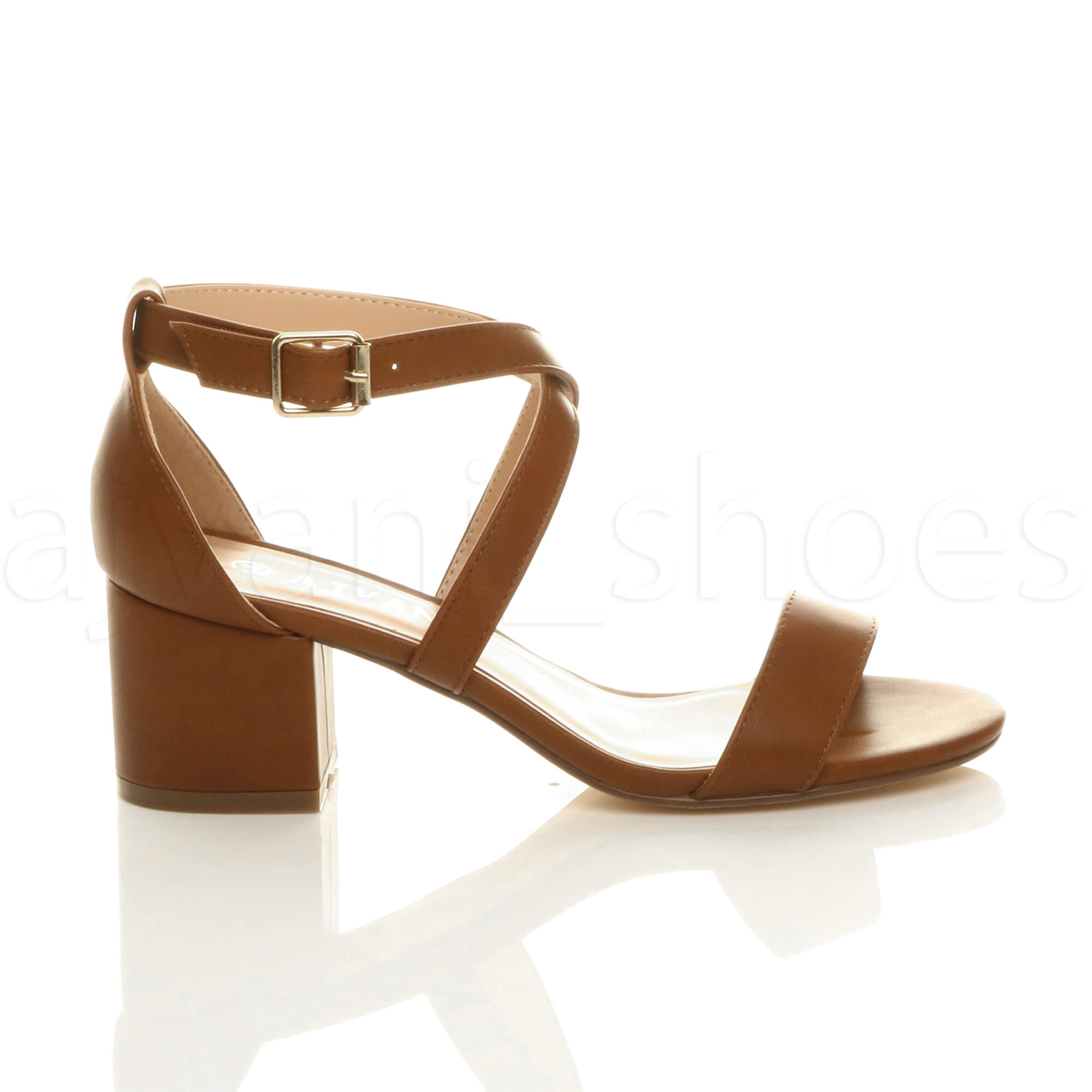 WOMENS-LADIES-MID-LOW-BLOCK-HEEL-CROSS-STRAPS-PARTY-STRAPPY-SANDALS-SHOES-SIZE thumbnail 90