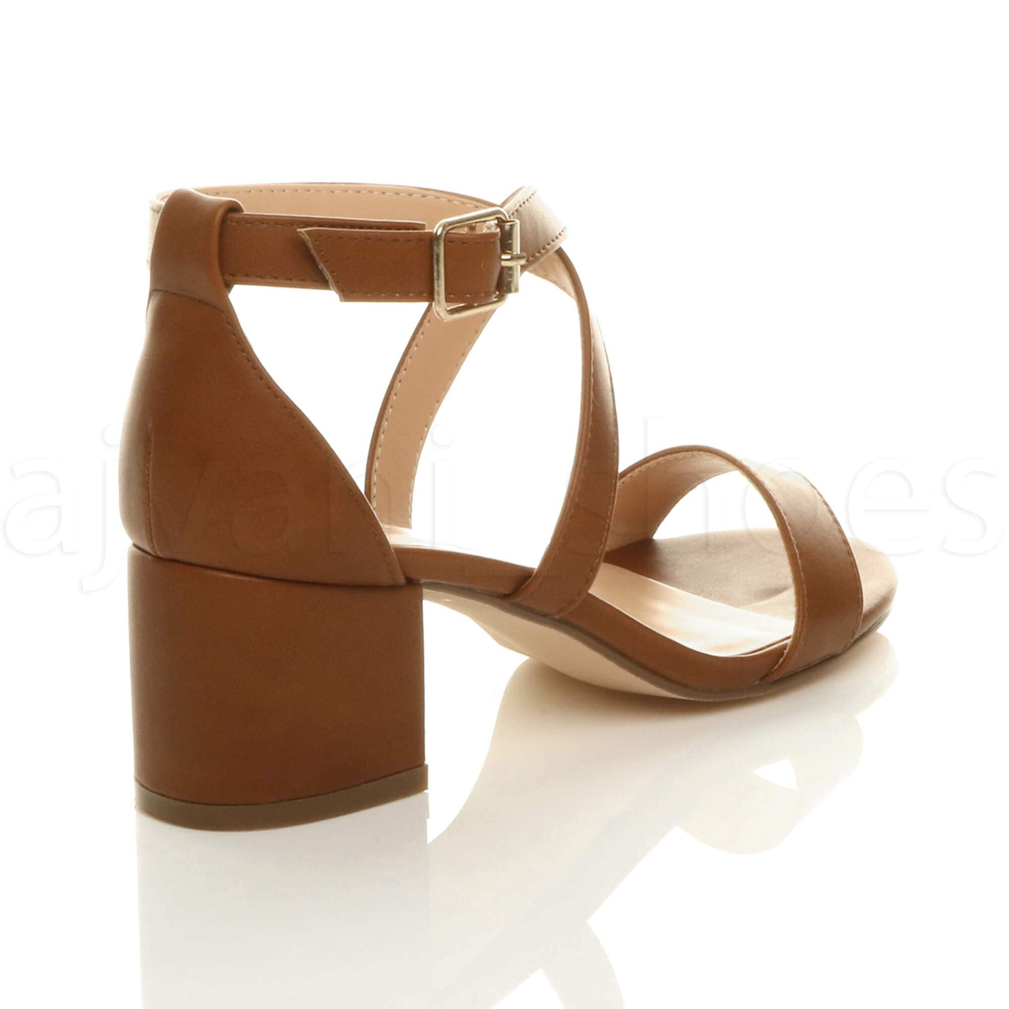 WOMENS-LADIES-MID-LOW-BLOCK-HEEL-CROSS-STRAPS-PARTY-STRAPPY-SANDALS-SHOES-SIZE thumbnail 92