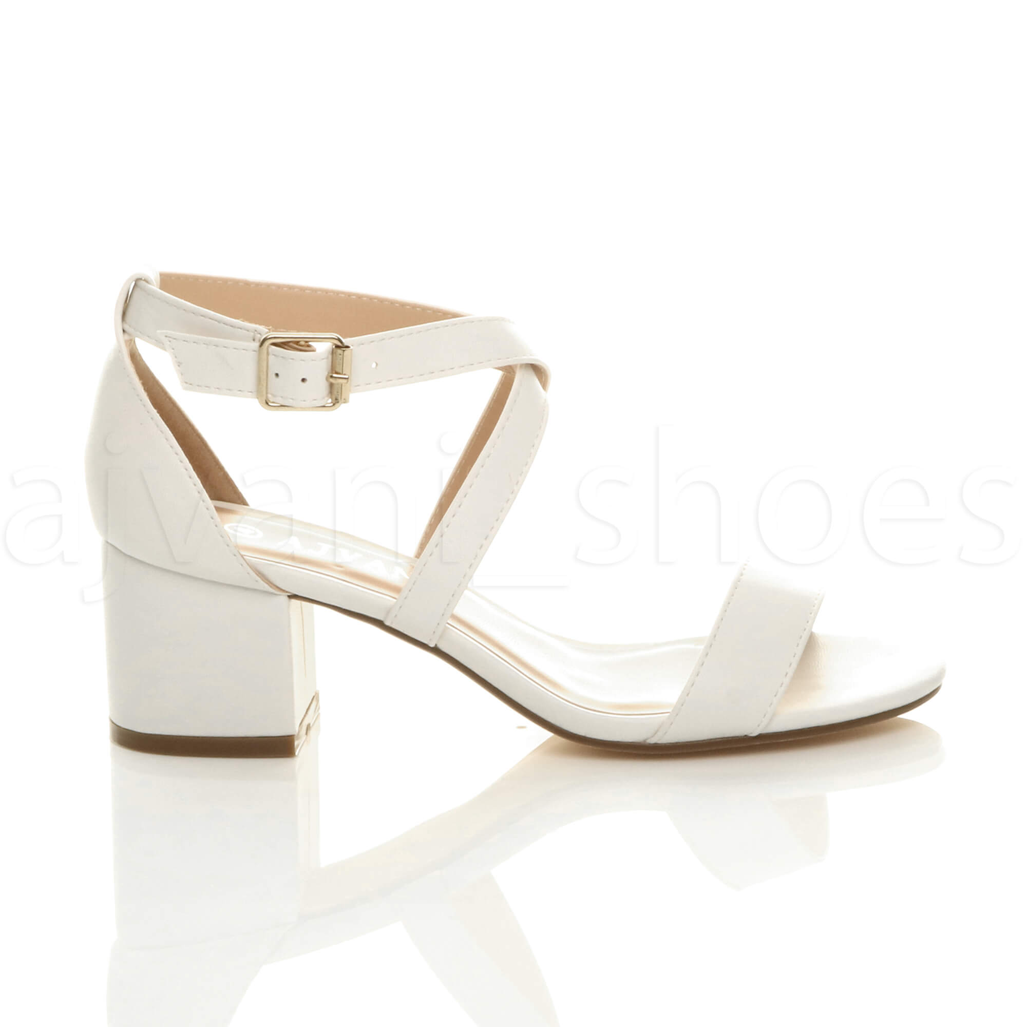 WOMENS-LADIES-MID-LOW-BLOCK-HEEL-CROSS-STRAPS-PARTY-STRAPPY-SANDALS-SHOES-SIZE thumbnail 98