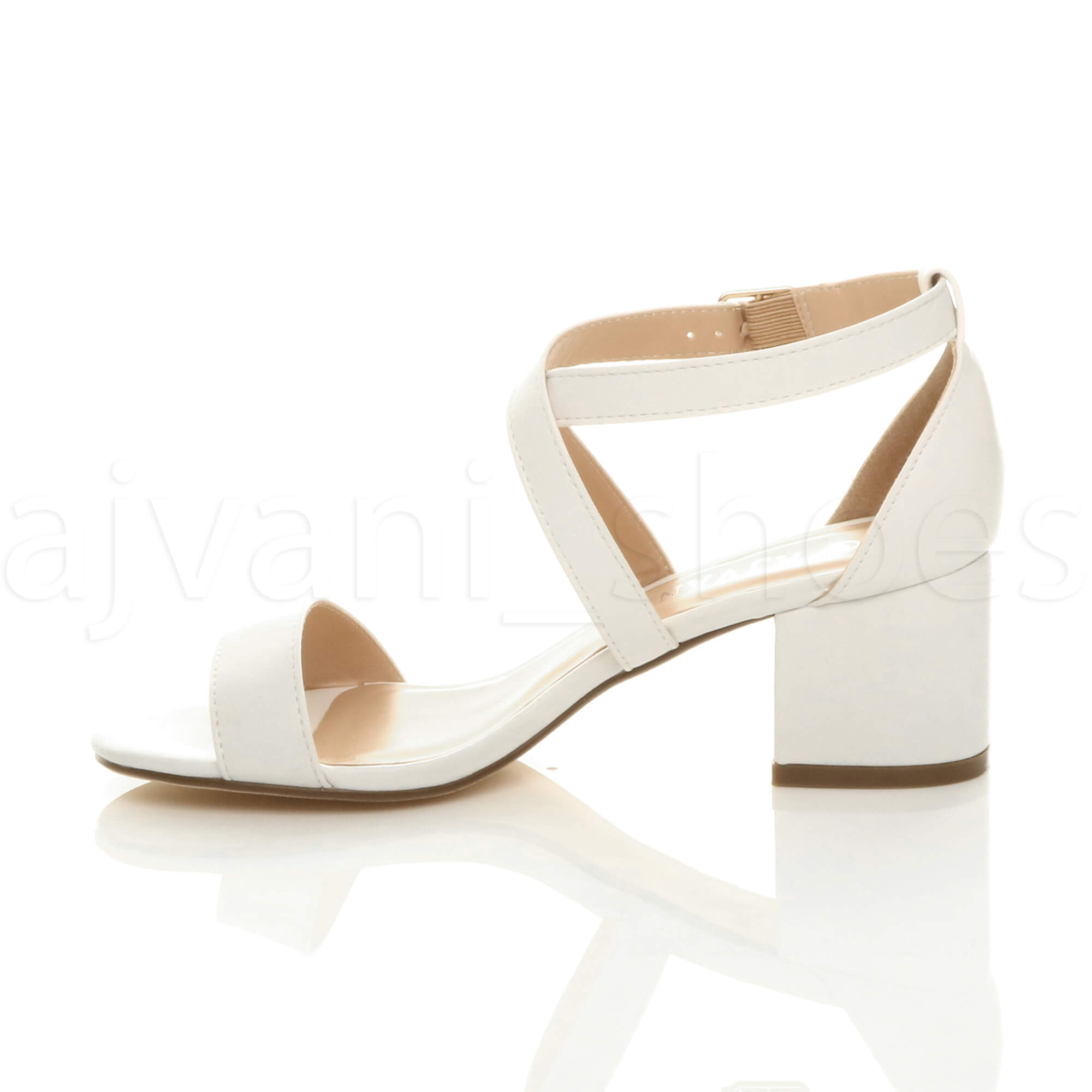 WOMENS-LADIES-MID-LOW-BLOCK-HEEL-CROSS-STRAPS-PARTY-STRAPPY-SANDALS-SHOES-SIZE thumbnail 99