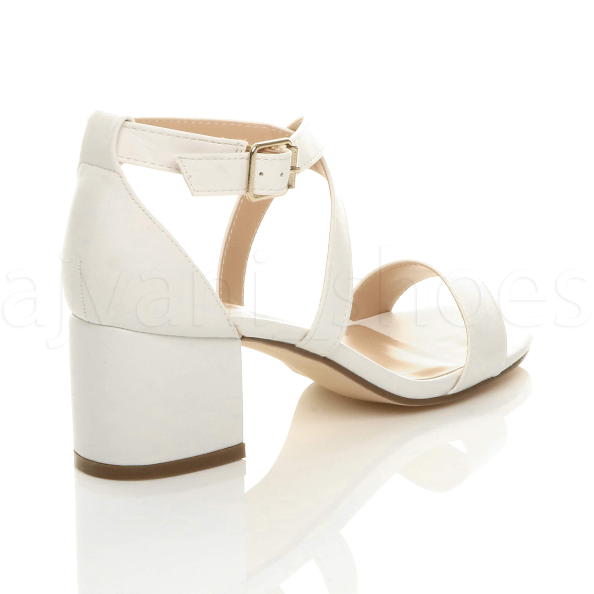 WOMENS-LADIES-MID-LOW-BLOCK-HEEL-CROSS-STRAPS-PARTY-STRAPPY-SANDALS-SHOES-SIZE thumbnail 100