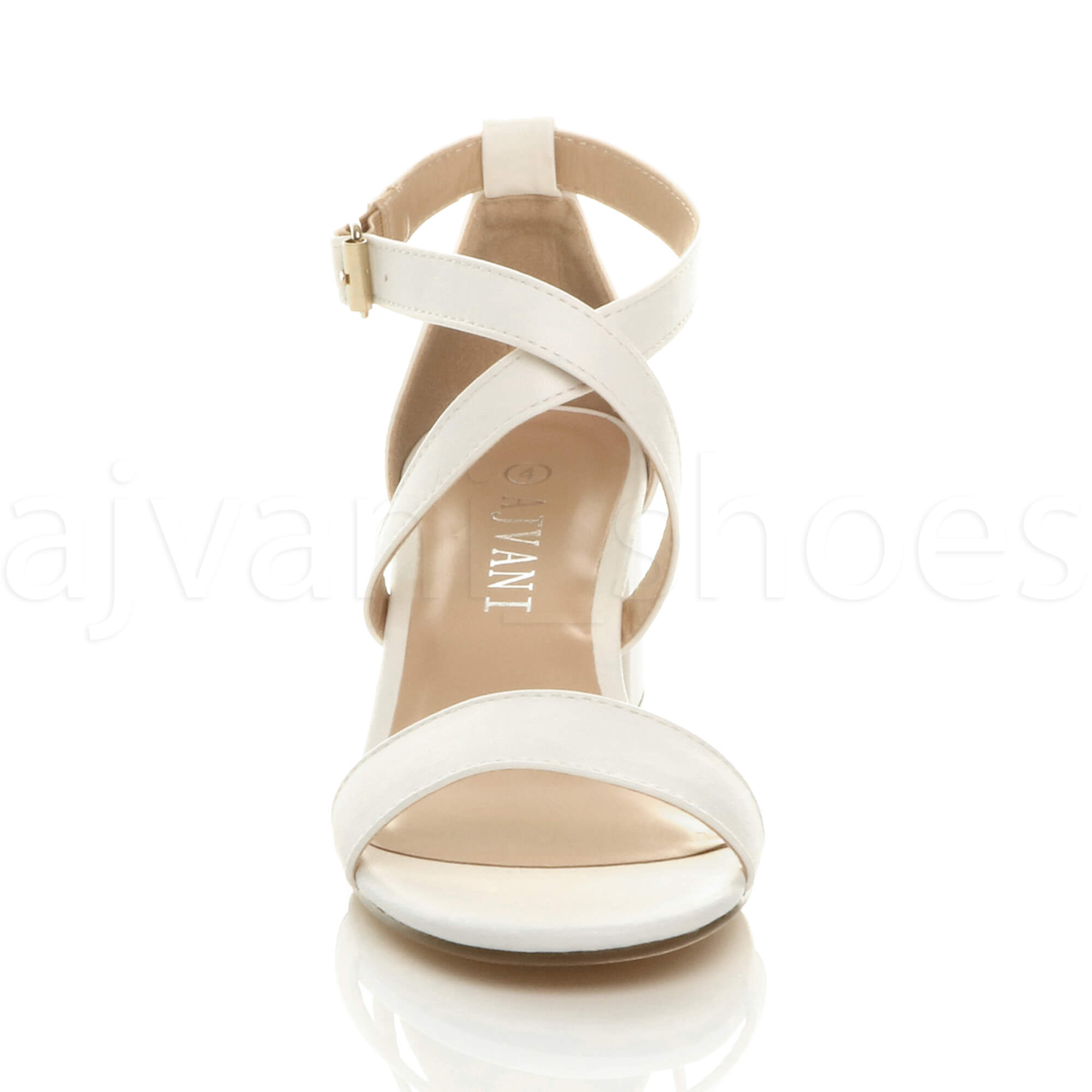WOMENS-LADIES-MID-LOW-BLOCK-HEEL-CROSS-STRAPS-PARTY-STRAPPY-SANDALS-SHOES-SIZE thumbnail 102