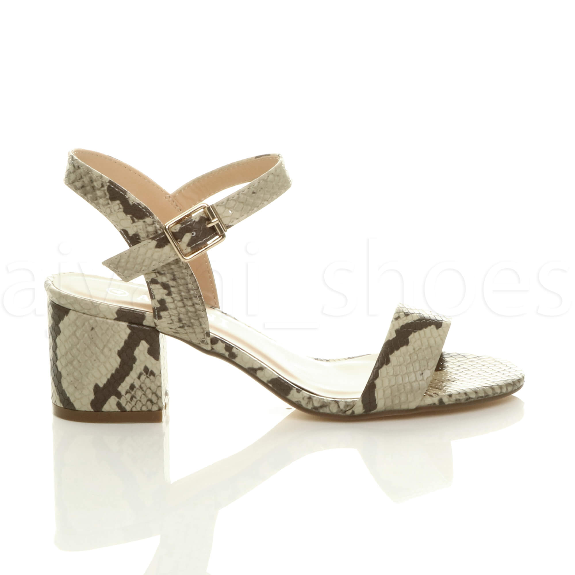 WOMENS-LADIES-MID-LOW-BLOCK-HEEL-PEEP-TOE-ANKLE-STRAP-STRAPPY-PARTY-SANDALS-SIZE thumbnail 3