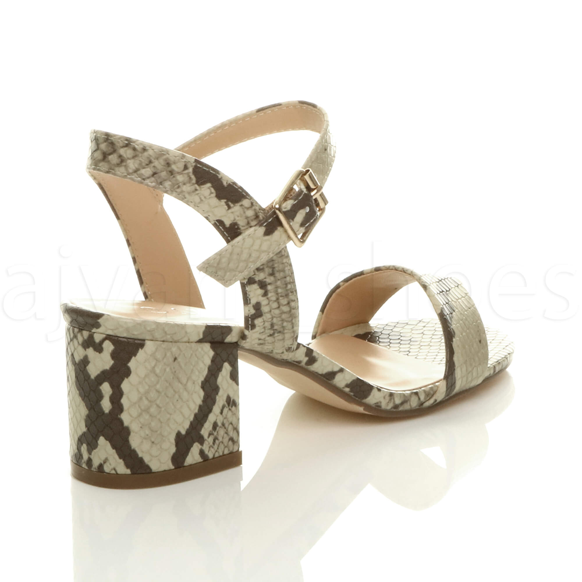 WOMENS-LADIES-MID-LOW-BLOCK-HEEL-PEEP-TOE-ANKLE-STRAP-STRAPPY-PARTY-SANDALS-SIZE thumbnail 5