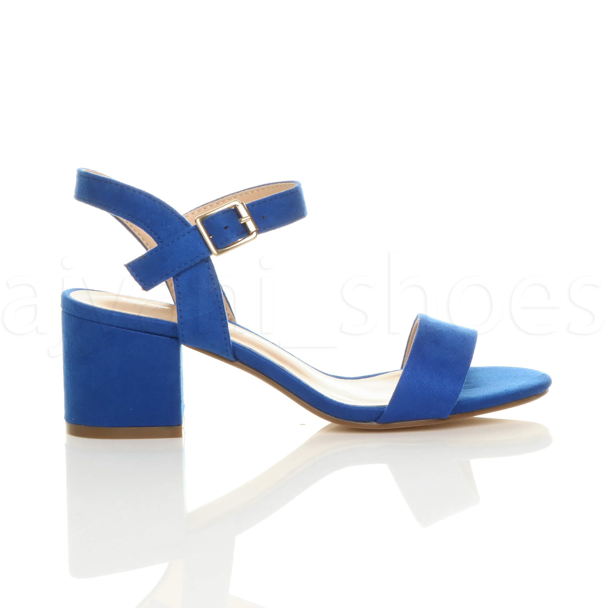 WOMENS-LADIES-MID-LOW-BLOCK-HEEL-PEEP-TOE-ANKLE-STRAP-STRAPPY-PARTY-SANDALS-SIZE thumbnail 35