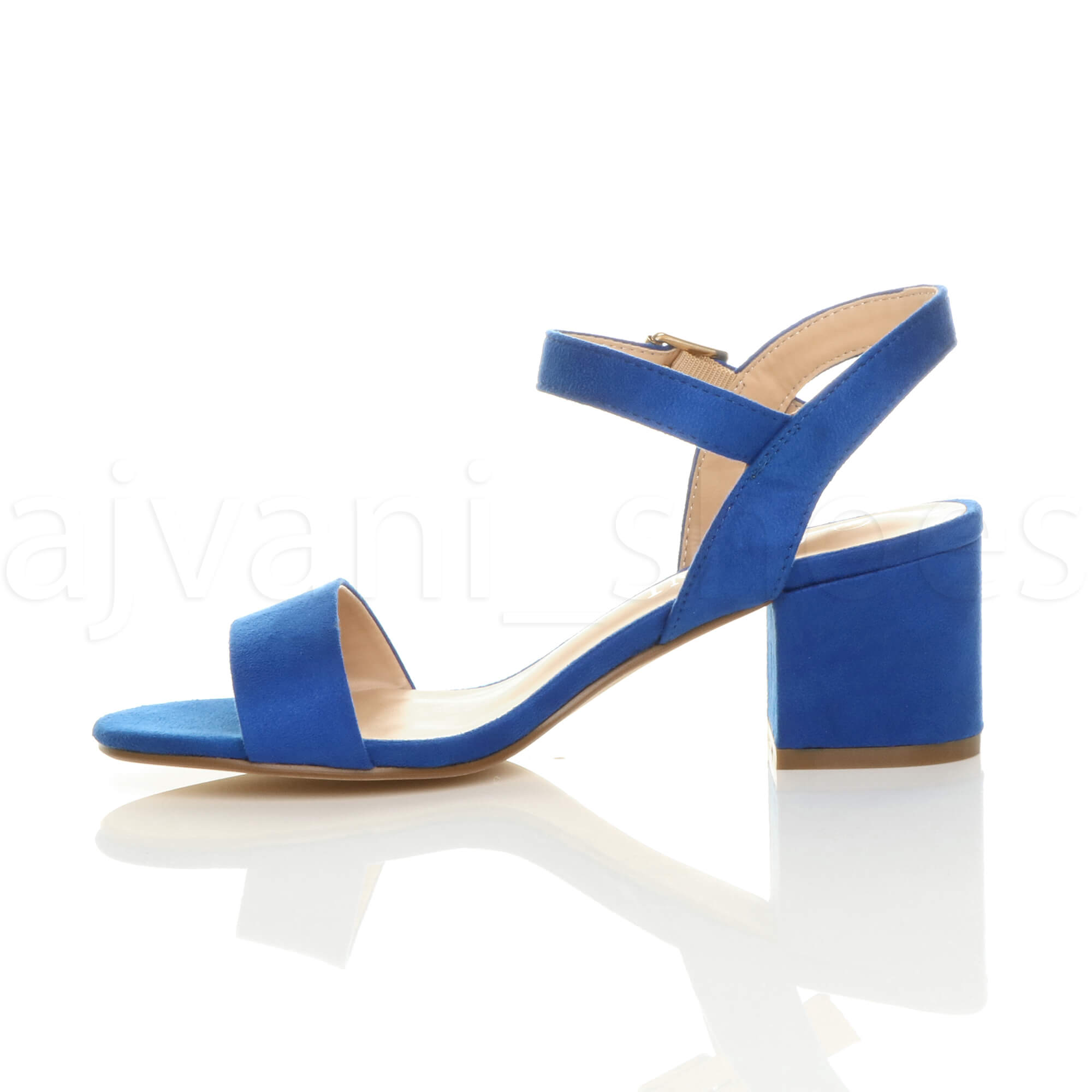 WOMENS-LADIES-MID-LOW-BLOCK-HEEL-PEEP-TOE-ANKLE-STRAP-STRAPPY-PARTY-SANDALS-SIZE thumbnail 36