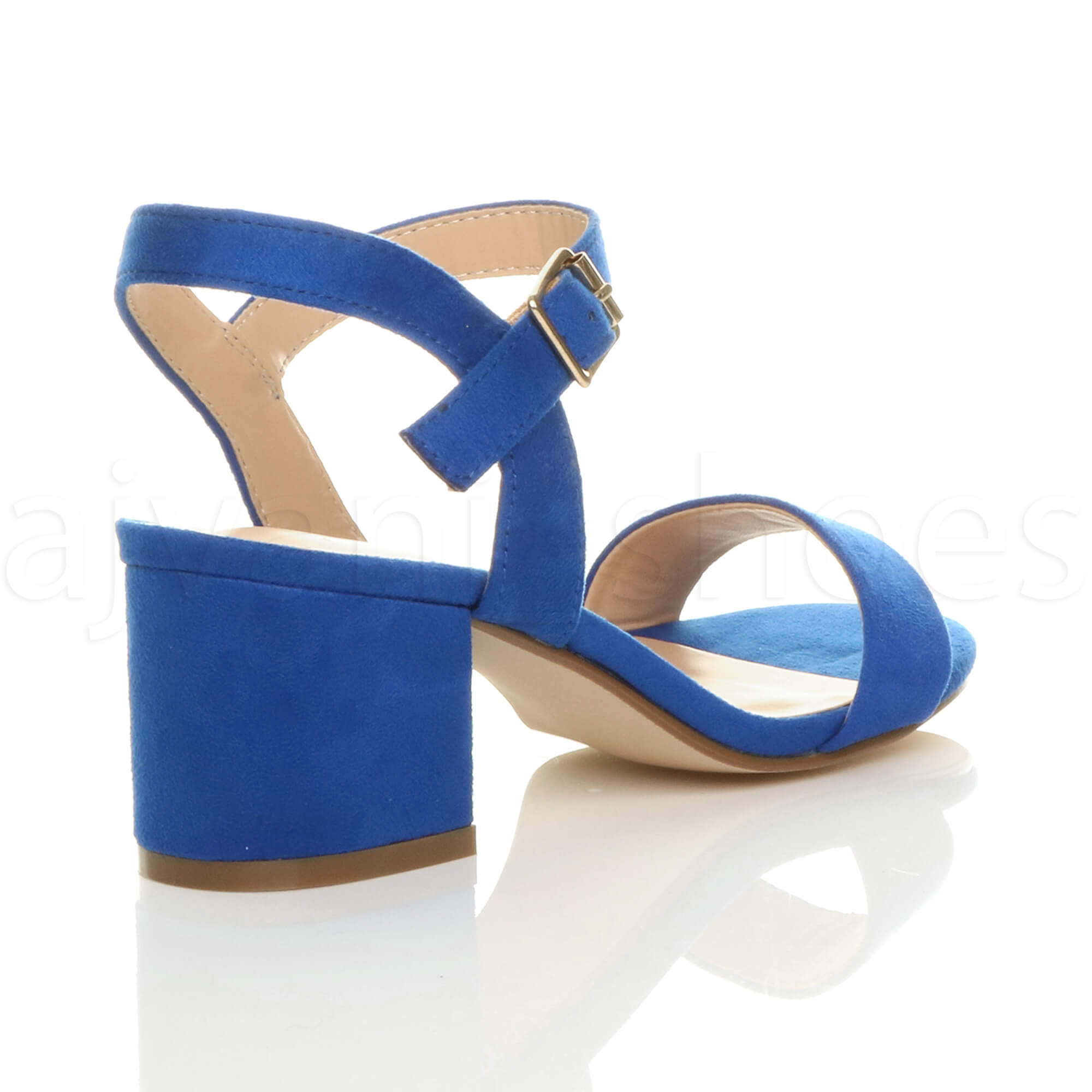 WOMENS-LADIES-MID-LOW-BLOCK-HEEL-PEEP-TOE-ANKLE-STRAP-STRAPPY-PARTY-SANDALS-SIZE thumbnail 37