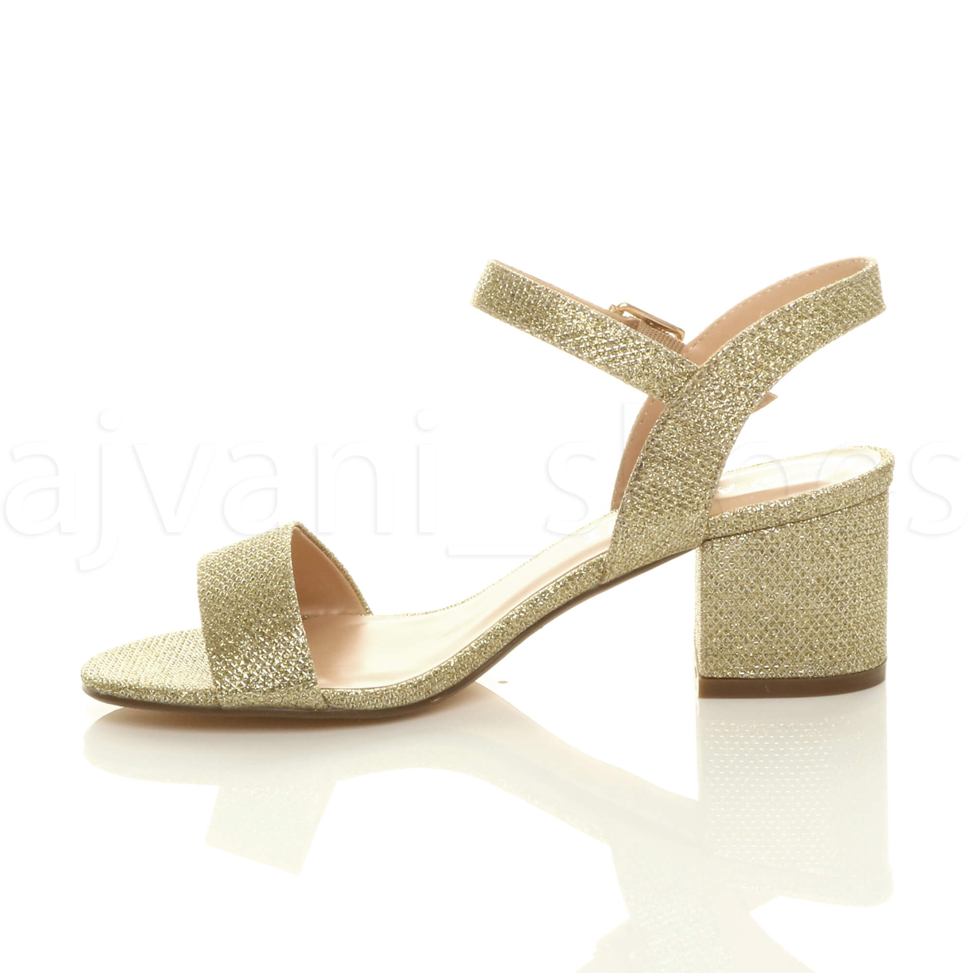 WOMENS-LADIES-MID-LOW-BLOCK-HEEL-PEEP-TOE-ANKLE-STRAP-STRAPPY-PARTY-SANDALS-SIZE thumbnail 52