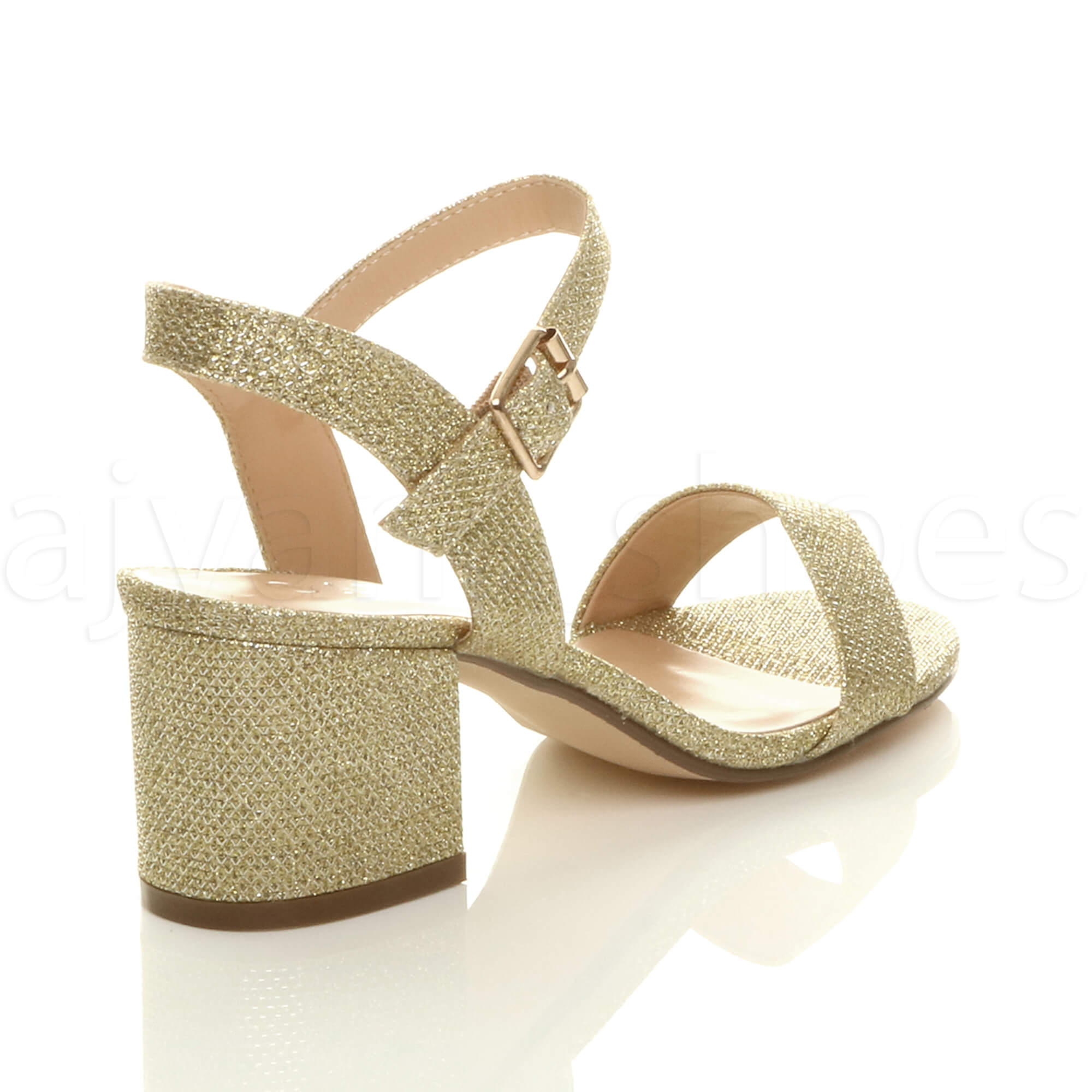 WOMENS-LADIES-MID-LOW-BLOCK-HEEL-PEEP-TOE-ANKLE-STRAP-STRAPPY-PARTY-SANDALS-SIZE thumbnail 53