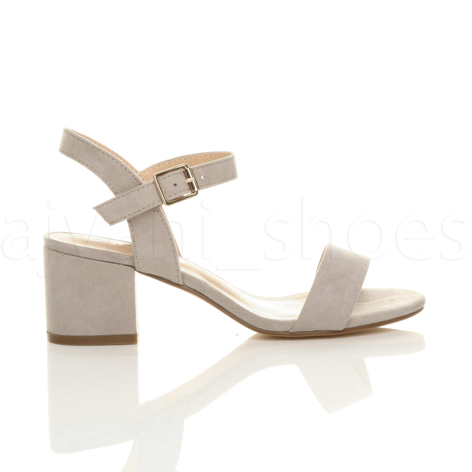 WOMENS-LADIES-MID-LOW-BLOCK-HEEL-PEEP-TOE-ANKLE-STRAP-STRAPPY-PARTY-SANDALS-SIZE thumbnail 67