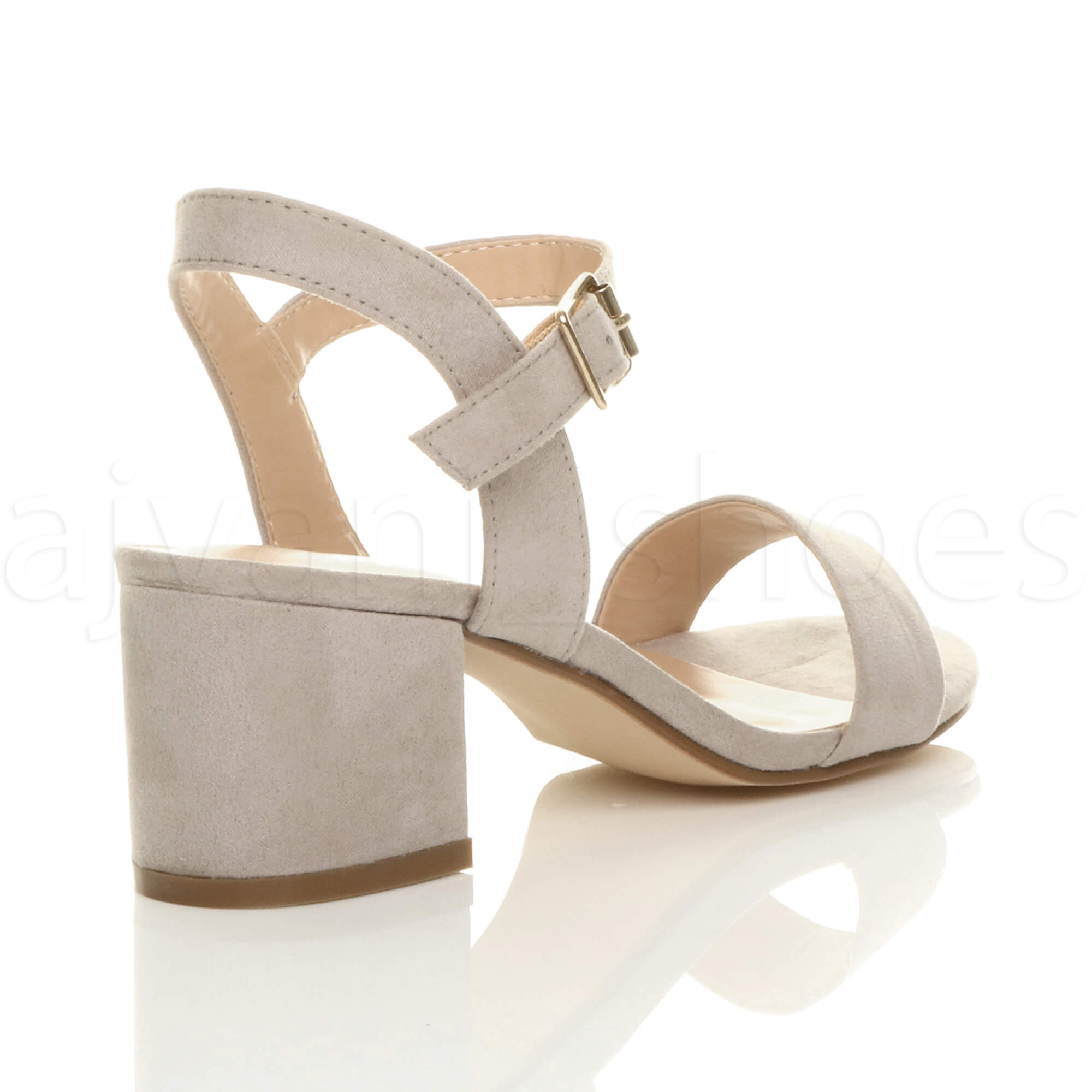 WOMENS-LADIES-MID-LOW-BLOCK-HEEL-PEEP-TOE-ANKLE-STRAP-STRAPPY-PARTY-SANDALS-SIZE thumbnail 69