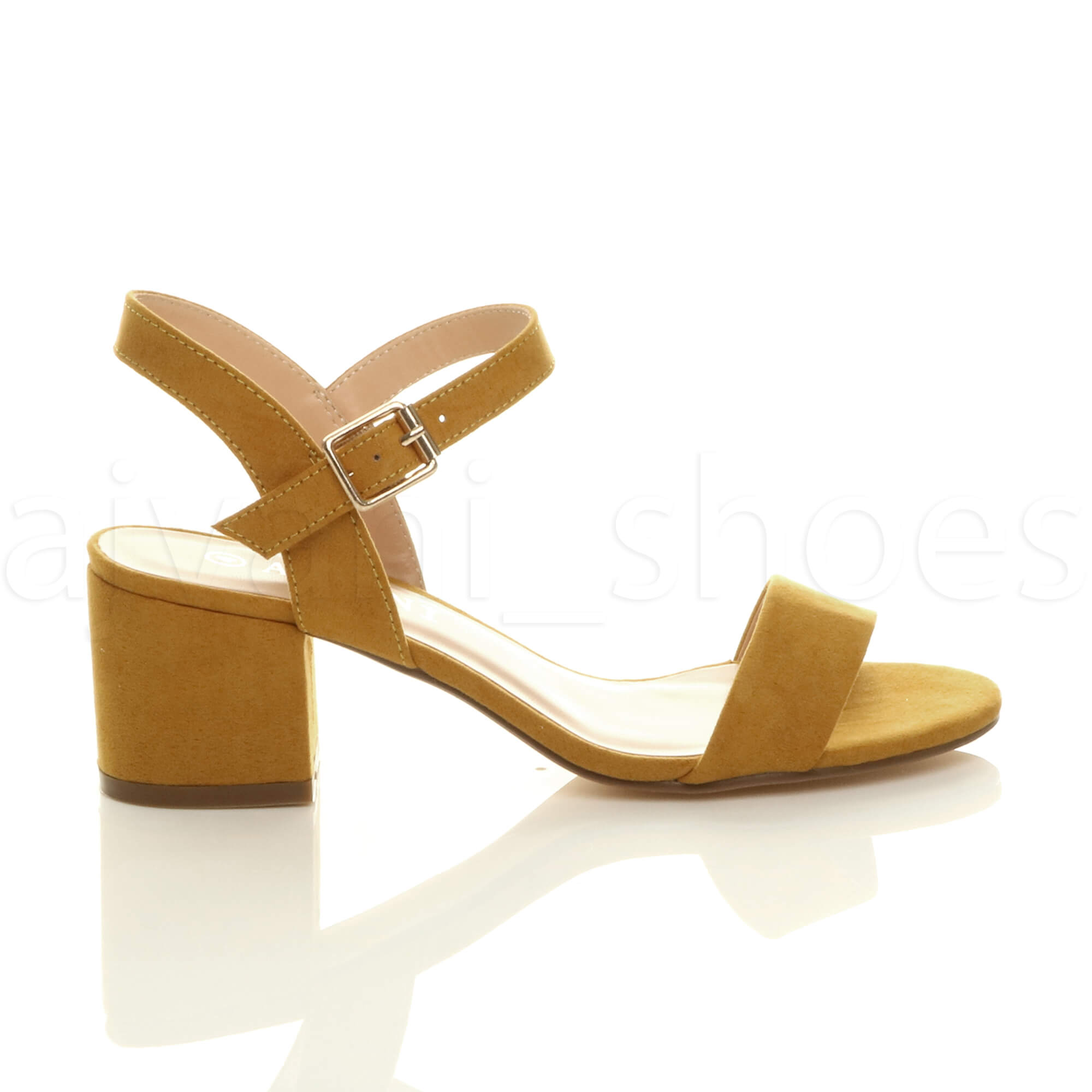 WOMENS-LADIES-MID-LOW-BLOCK-HEEL-PEEP-TOE-ANKLE-STRAP-STRAPPY-PARTY-SANDALS-SIZE thumbnail 75