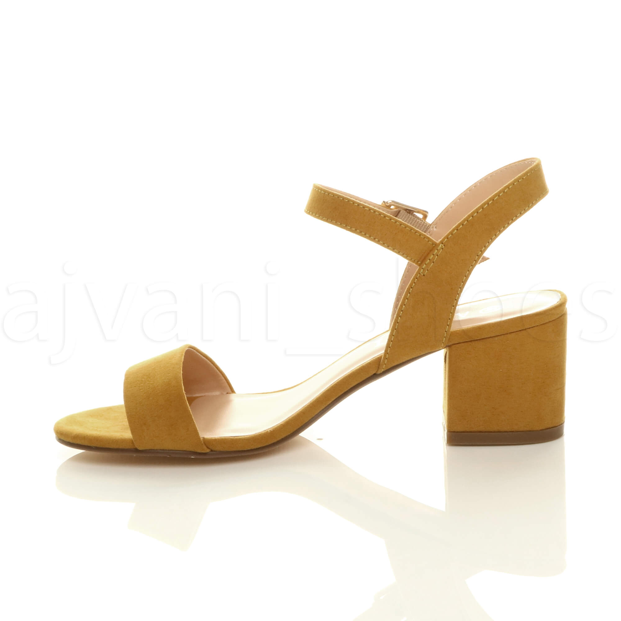 WOMENS-LADIES-MID-LOW-BLOCK-HEEL-PEEP-TOE-ANKLE-STRAP-STRAPPY-PARTY-SANDALS-SIZE thumbnail 76