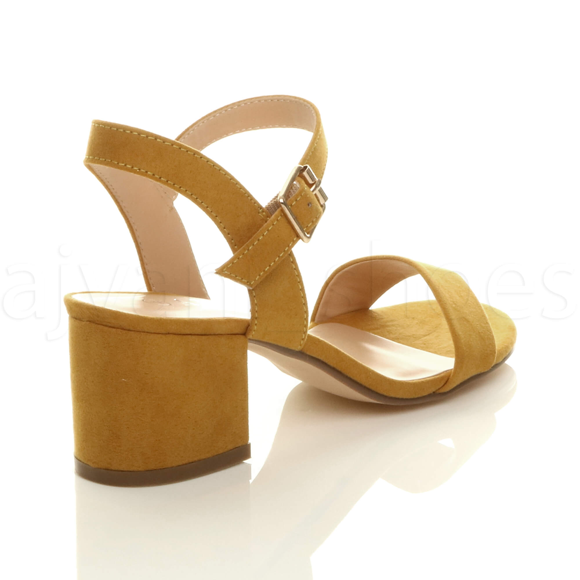 WOMENS-LADIES-MID-LOW-BLOCK-HEEL-PEEP-TOE-ANKLE-STRAP-STRAPPY-PARTY-SANDALS-SIZE thumbnail 77