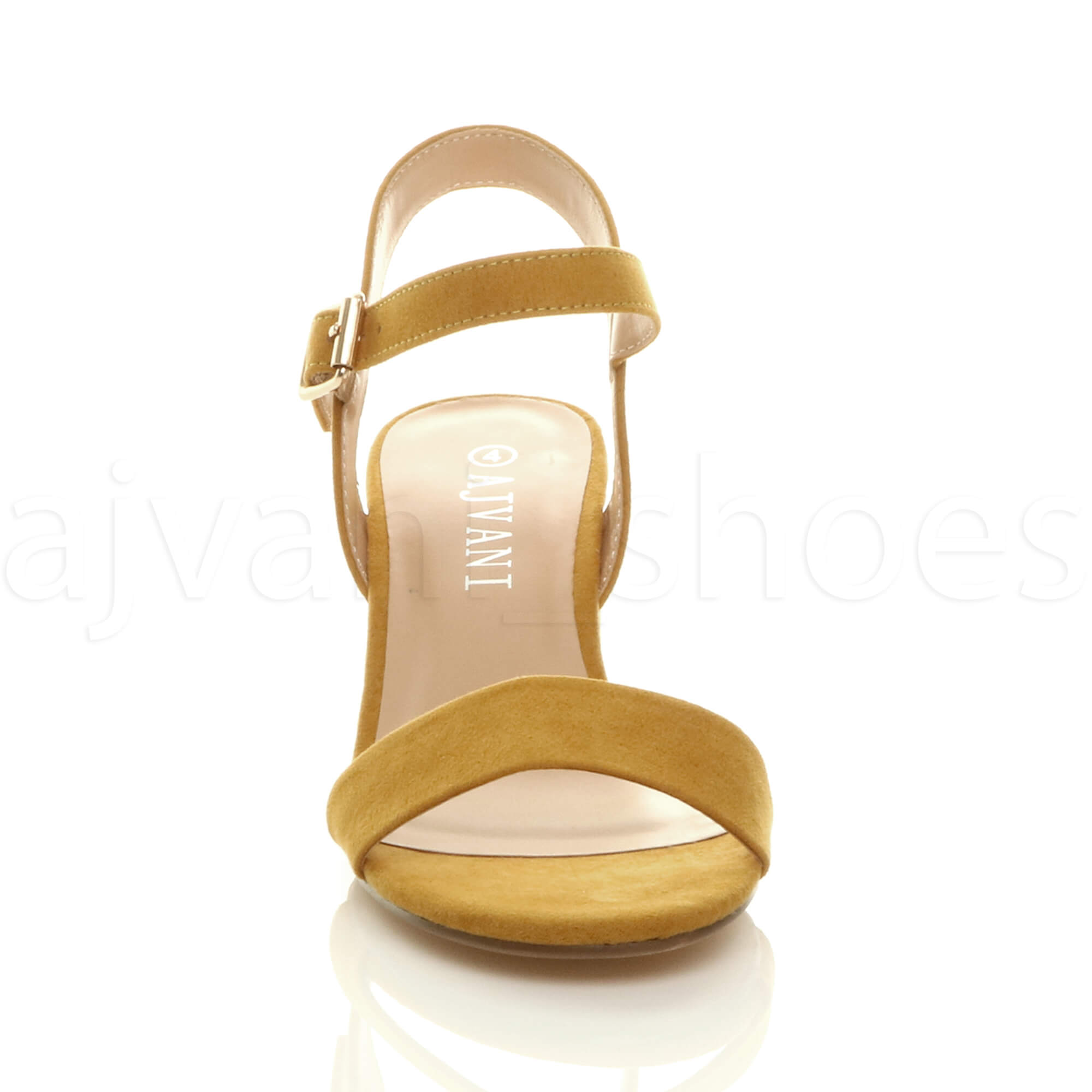 WOMENS-LADIES-MID-LOW-BLOCK-HEEL-PEEP-TOE-ANKLE-STRAP-STRAPPY-PARTY-SANDALS-SIZE thumbnail 79