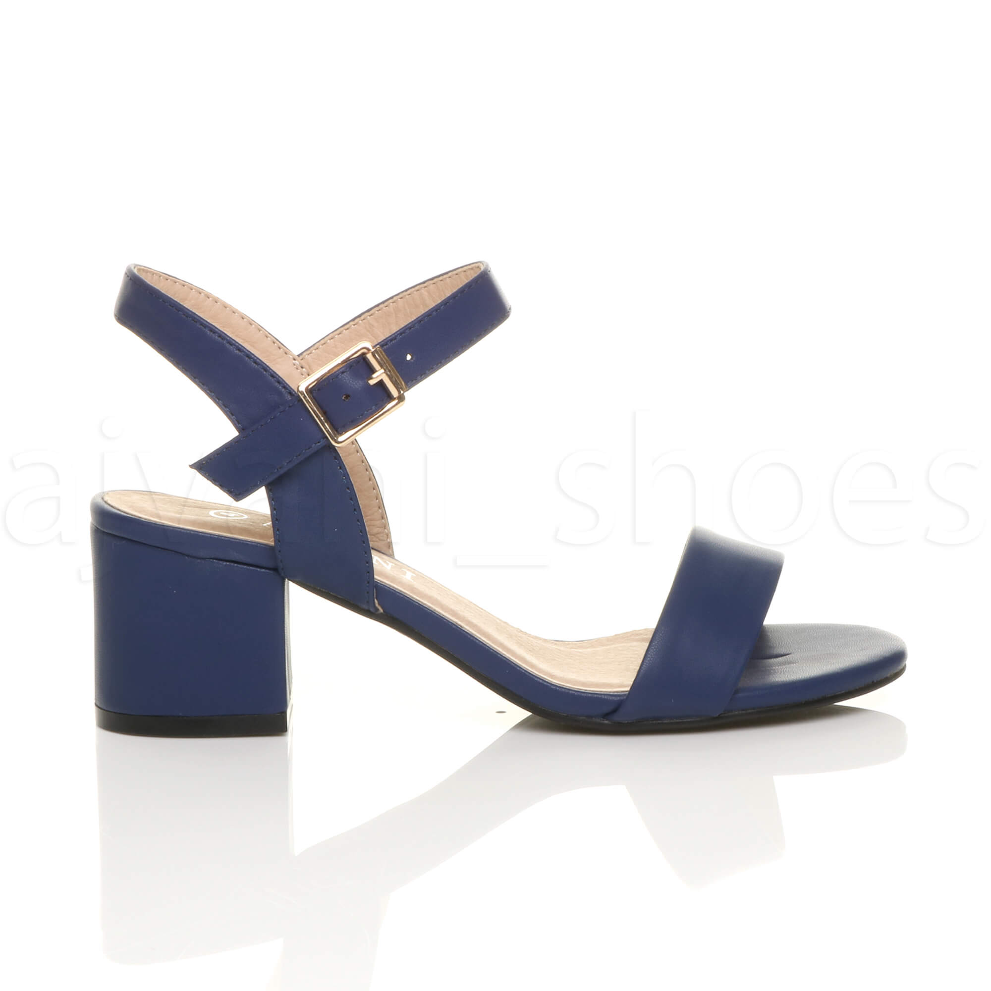 WOMENS-LADIES-MID-LOW-BLOCK-HEEL-PEEP-TOE-ANKLE-STRAP-STRAPPY-PARTY-SANDALS-SIZE thumbnail 83