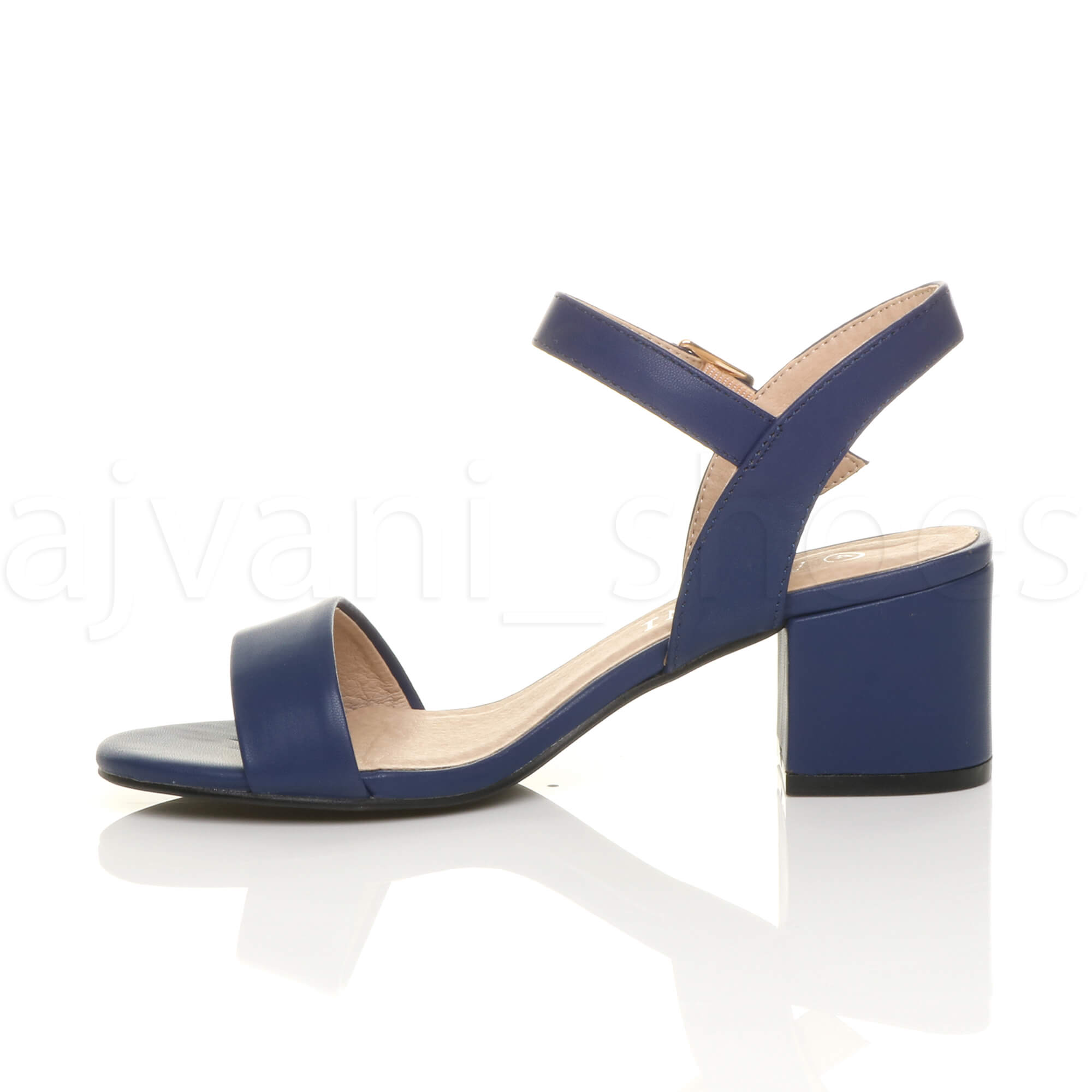 WOMENS-LADIES-MID-LOW-BLOCK-HEEL-PEEP-TOE-ANKLE-STRAP-STRAPPY-PARTY-SANDALS-SIZE thumbnail 84