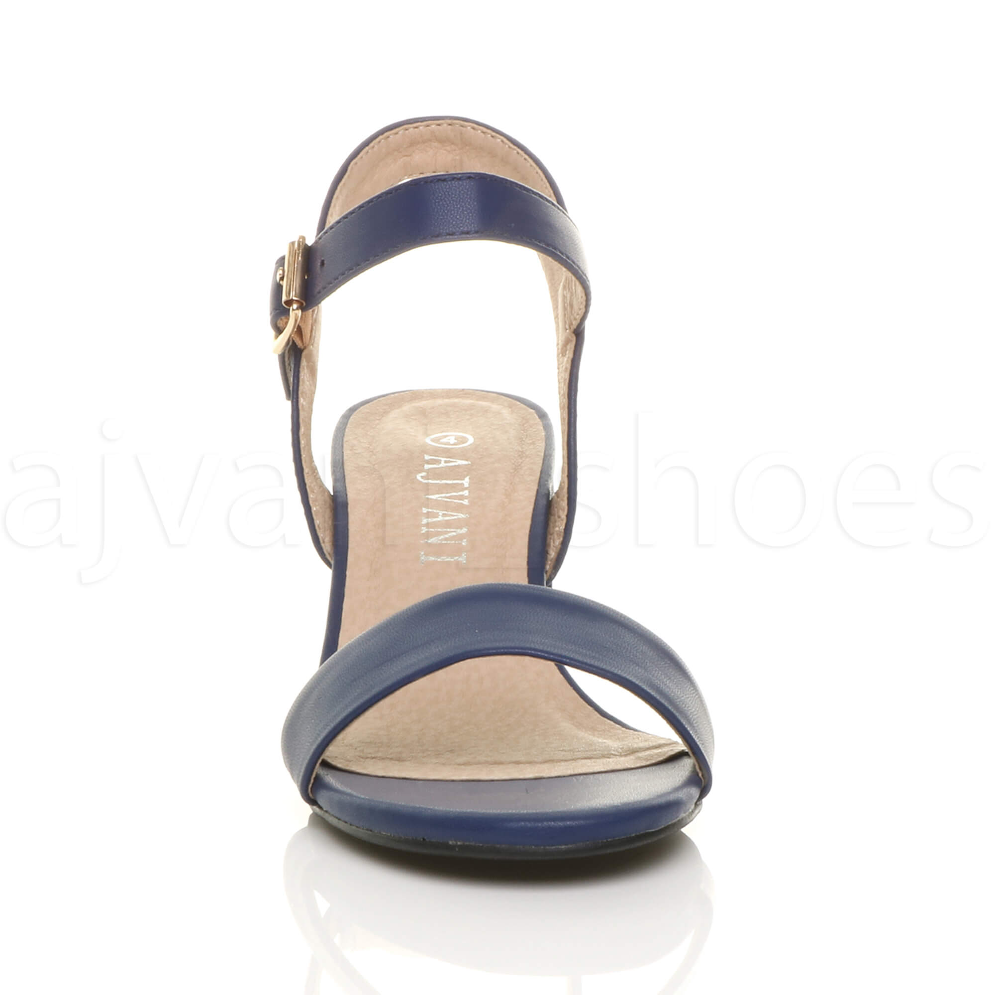 WOMENS-LADIES-MID-LOW-BLOCK-HEEL-PEEP-TOE-ANKLE-STRAP-STRAPPY-PARTY-SANDALS-SIZE thumbnail 87