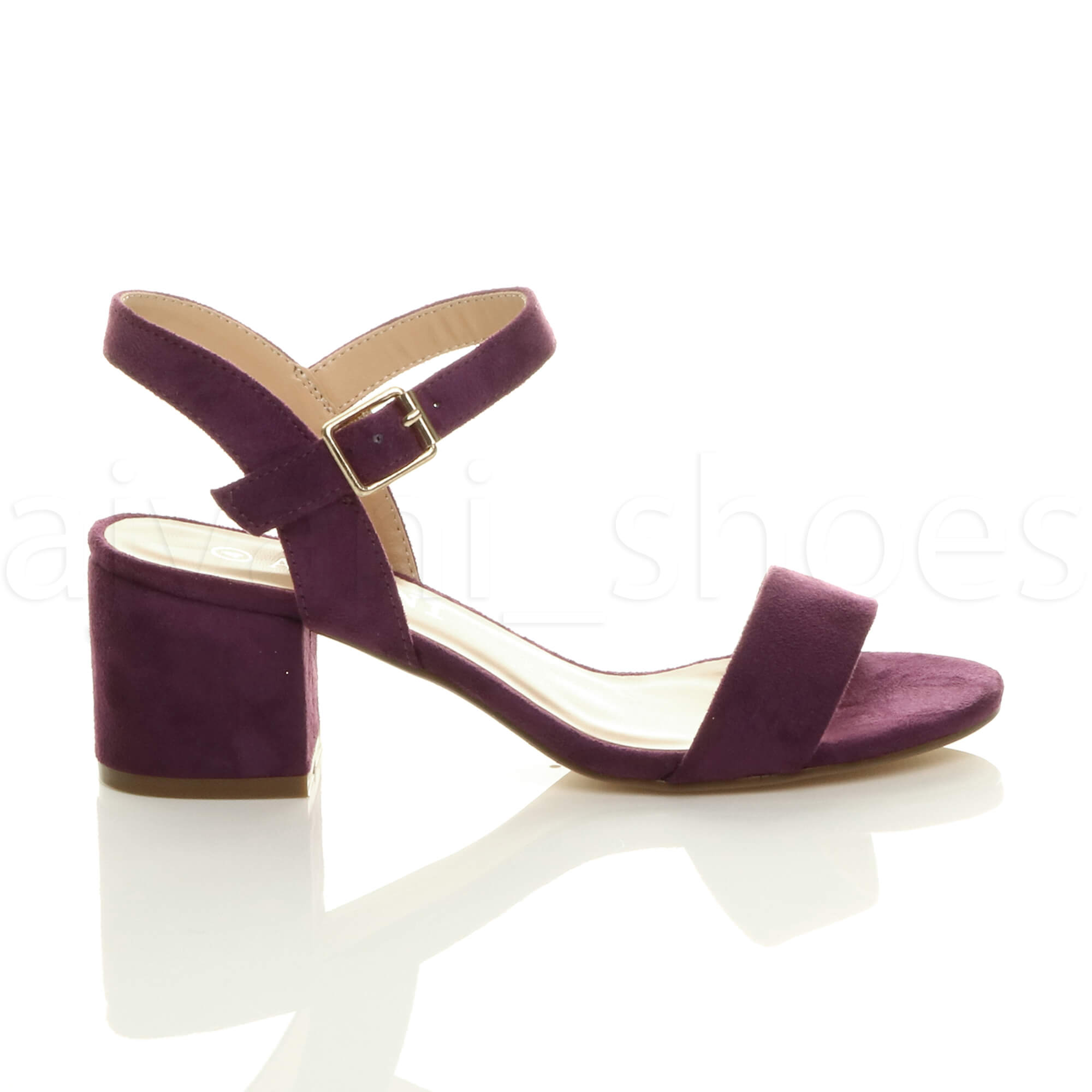 WOMENS-LADIES-MID-LOW-BLOCK-HEEL-PEEP-TOE-ANKLE-STRAP-STRAPPY-PARTY-SANDALS-SIZE thumbnail 99