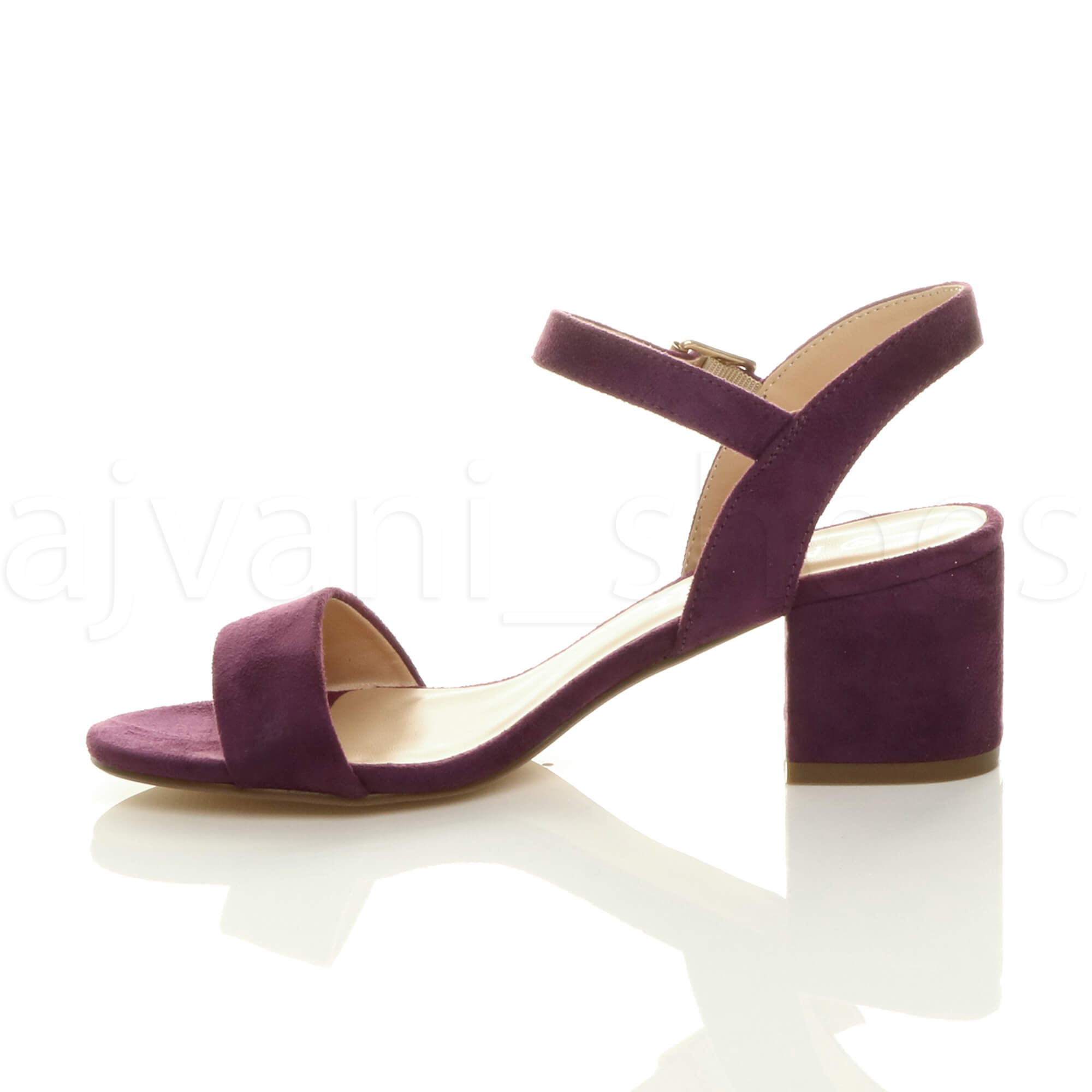 WOMENS-LADIES-MID-LOW-BLOCK-HEEL-PEEP-TOE-ANKLE-STRAP-STRAPPY-PARTY-SANDALS-SIZE thumbnail 100