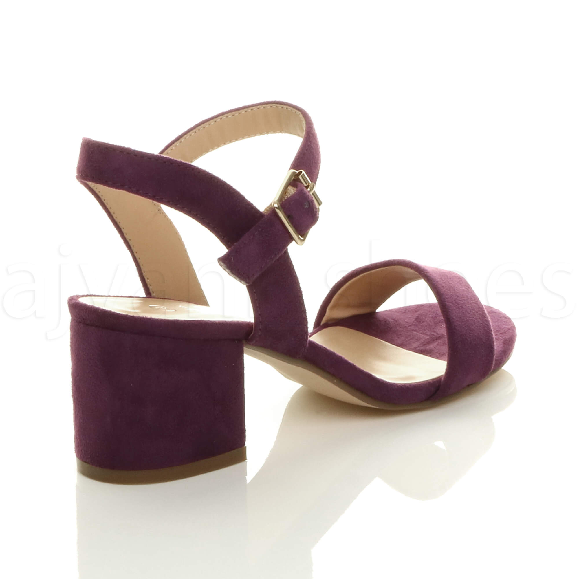 WOMENS-LADIES-MID-LOW-BLOCK-HEEL-PEEP-TOE-ANKLE-STRAP-STRAPPY-PARTY-SANDALS-SIZE thumbnail 101