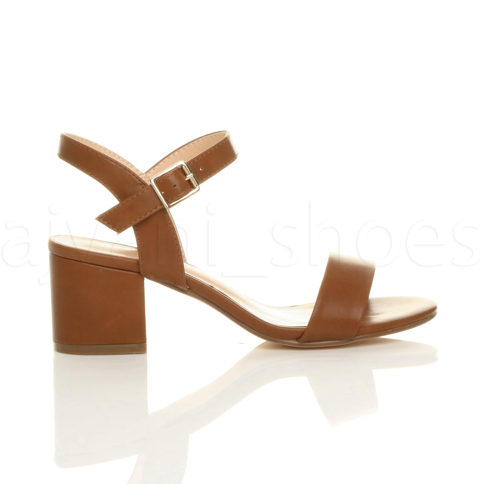 WOMENS-LADIES-MID-LOW-BLOCK-HEEL-PEEP-TOE-ANKLE-STRAP-STRAPPY-PARTY-SANDALS-SIZE thumbnail 139