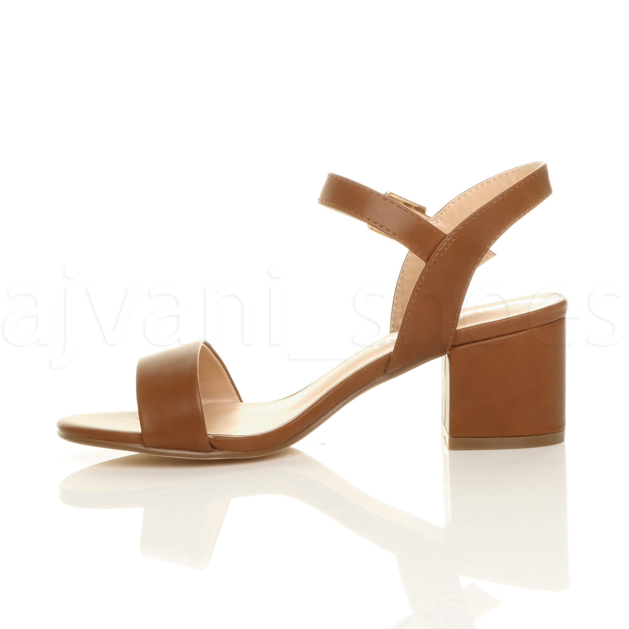 WOMENS-LADIES-MID-LOW-BLOCK-HEEL-PEEP-TOE-ANKLE-STRAP-STRAPPY-PARTY-SANDALS-SIZE thumbnail 140