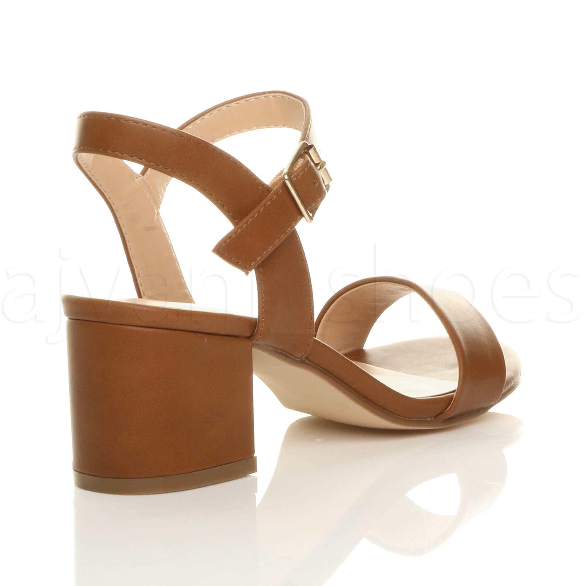 WOMENS-LADIES-MID-LOW-BLOCK-HEEL-PEEP-TOE-ANKLE-STRAP-STRAPPY-PARTY-SANDALS-SIZE thumbnail 141