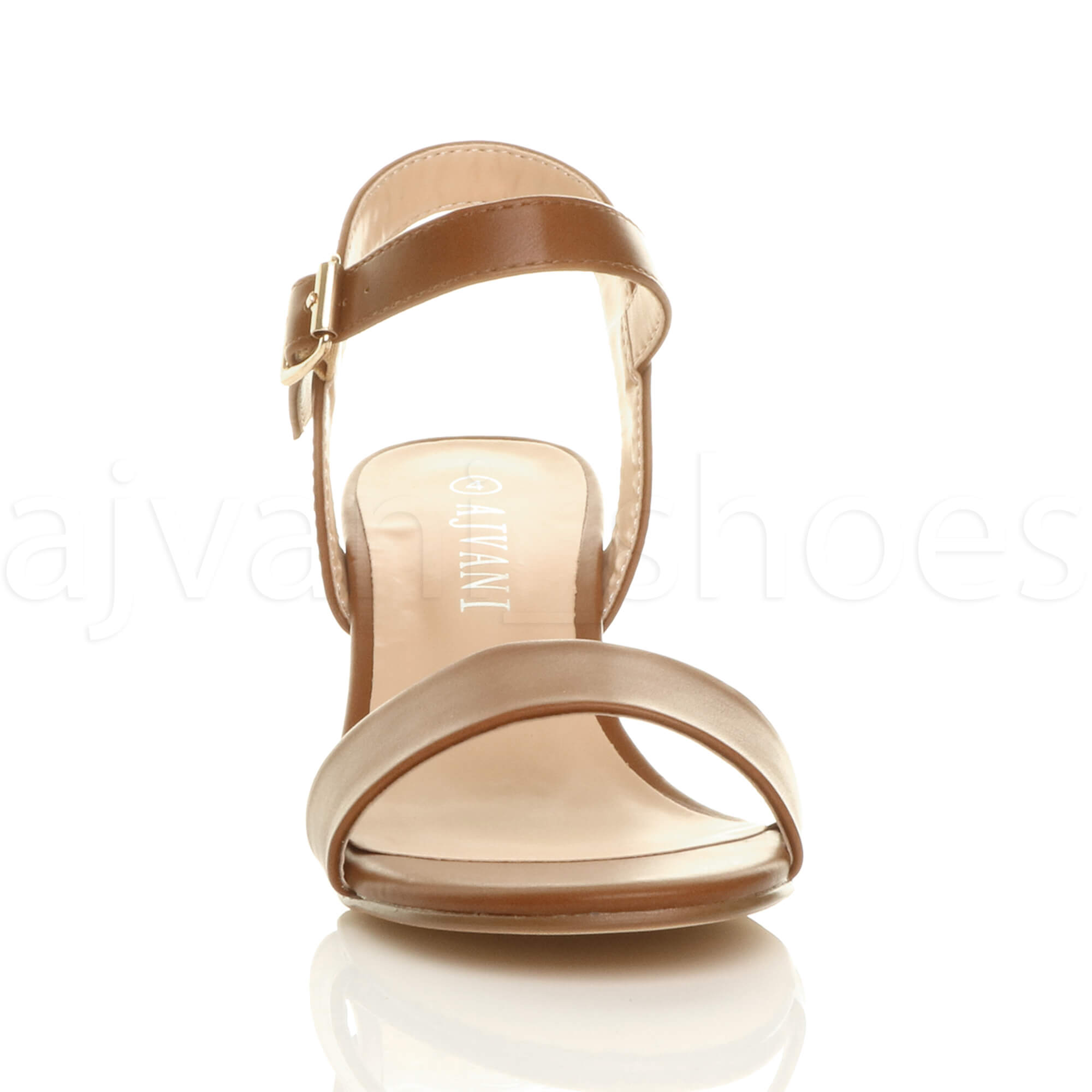 WOMENS-LADIES-MID-LOW-BLOCK-HEEL-PEEP-TOE-ANKLE-STRAP-STRAPPY-PARTY-SANDALS-SIZE thumbnail 143