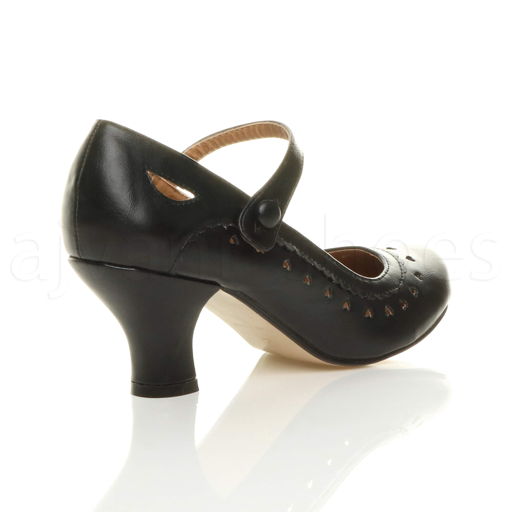 Womens Black Ankle Heels Work Shoes