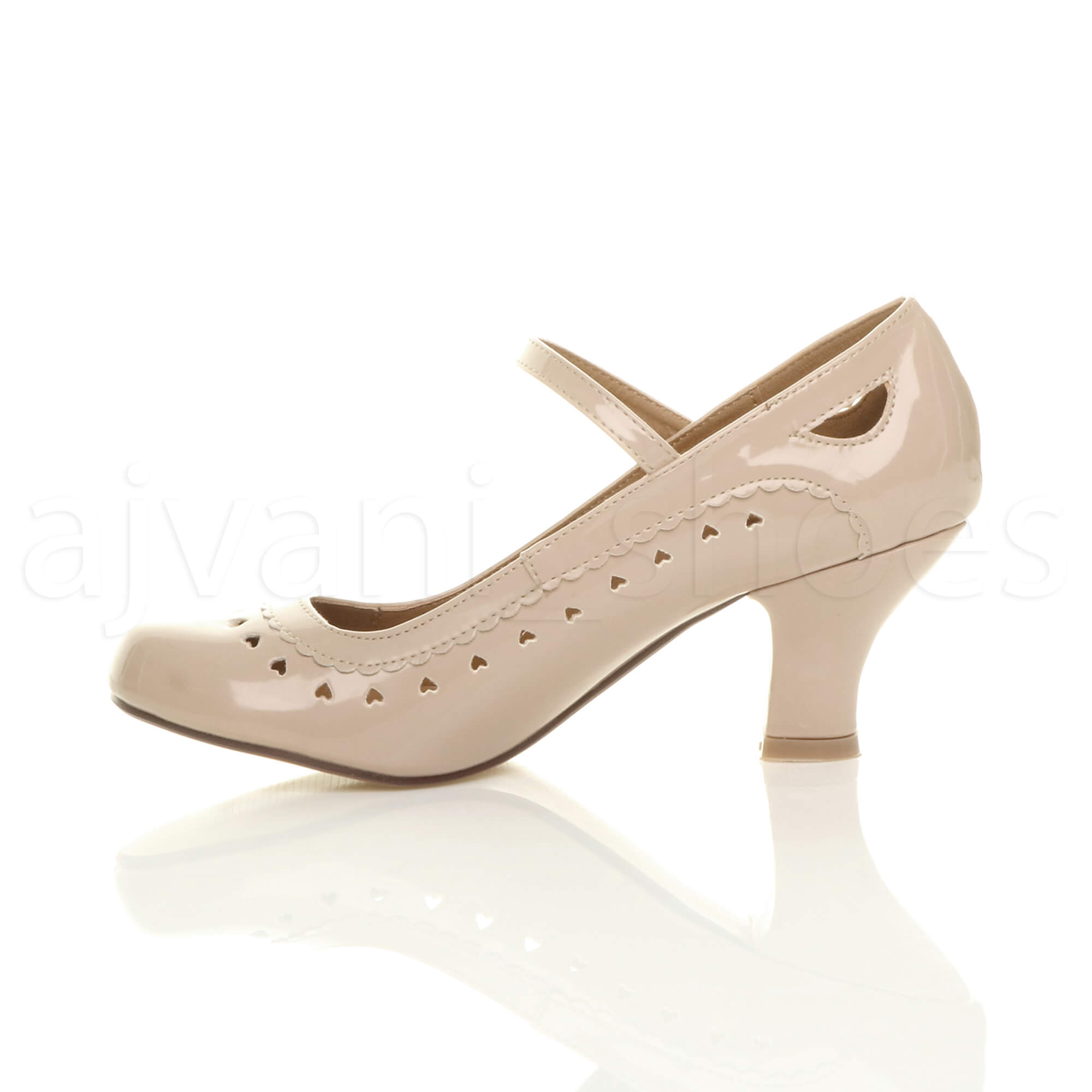 WOMENS-LADIES-LOW-HEEL-ANKLE-STRAP-MARY-JANE-STYLE-WORK-COURT-SHOES-PUMPS-SIZE