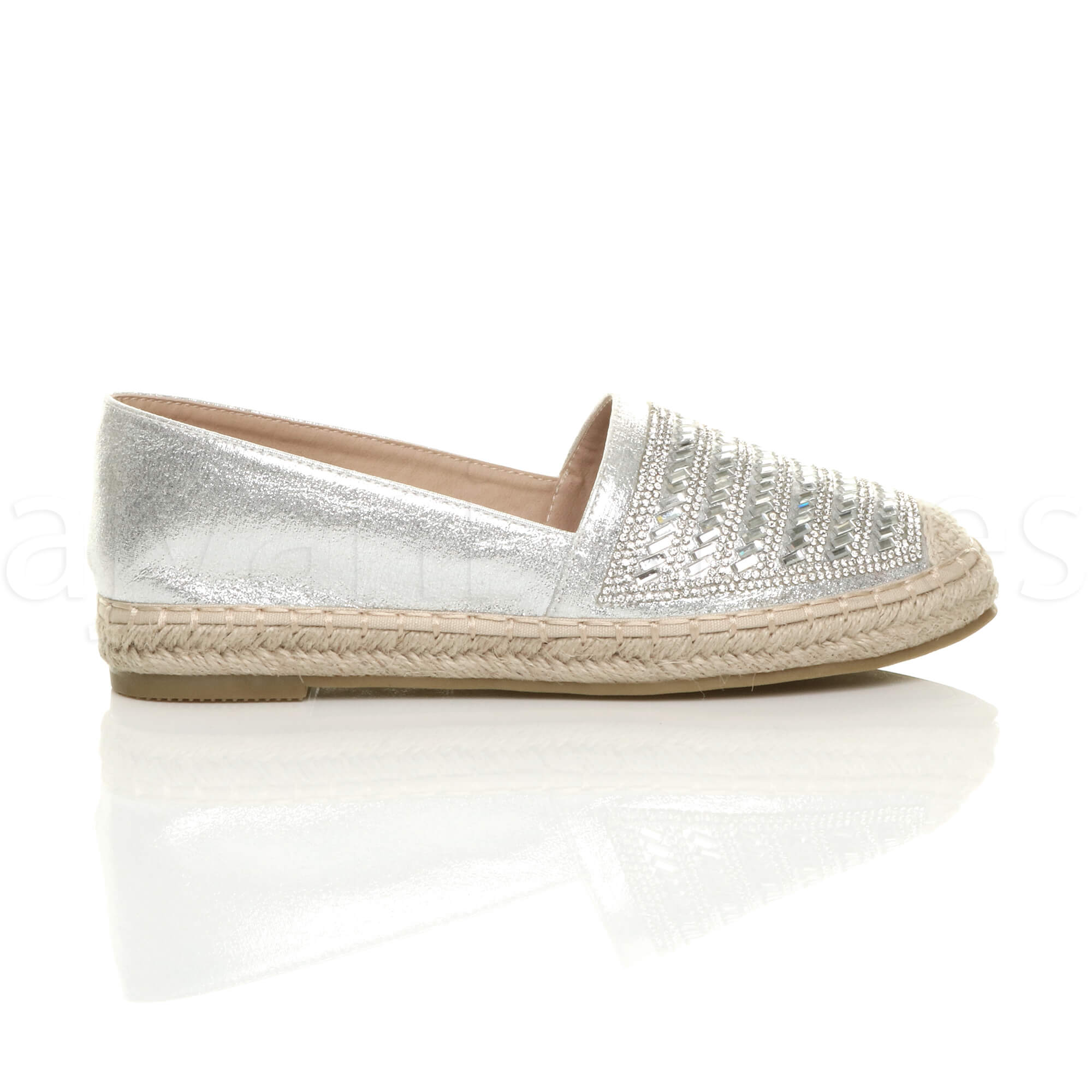 WOMENS-LADIES-FLAT-PLATFORM-ESPADRILLES-LOAFERS-DIAMANTE-FLATFORM-SHOES-SIZE