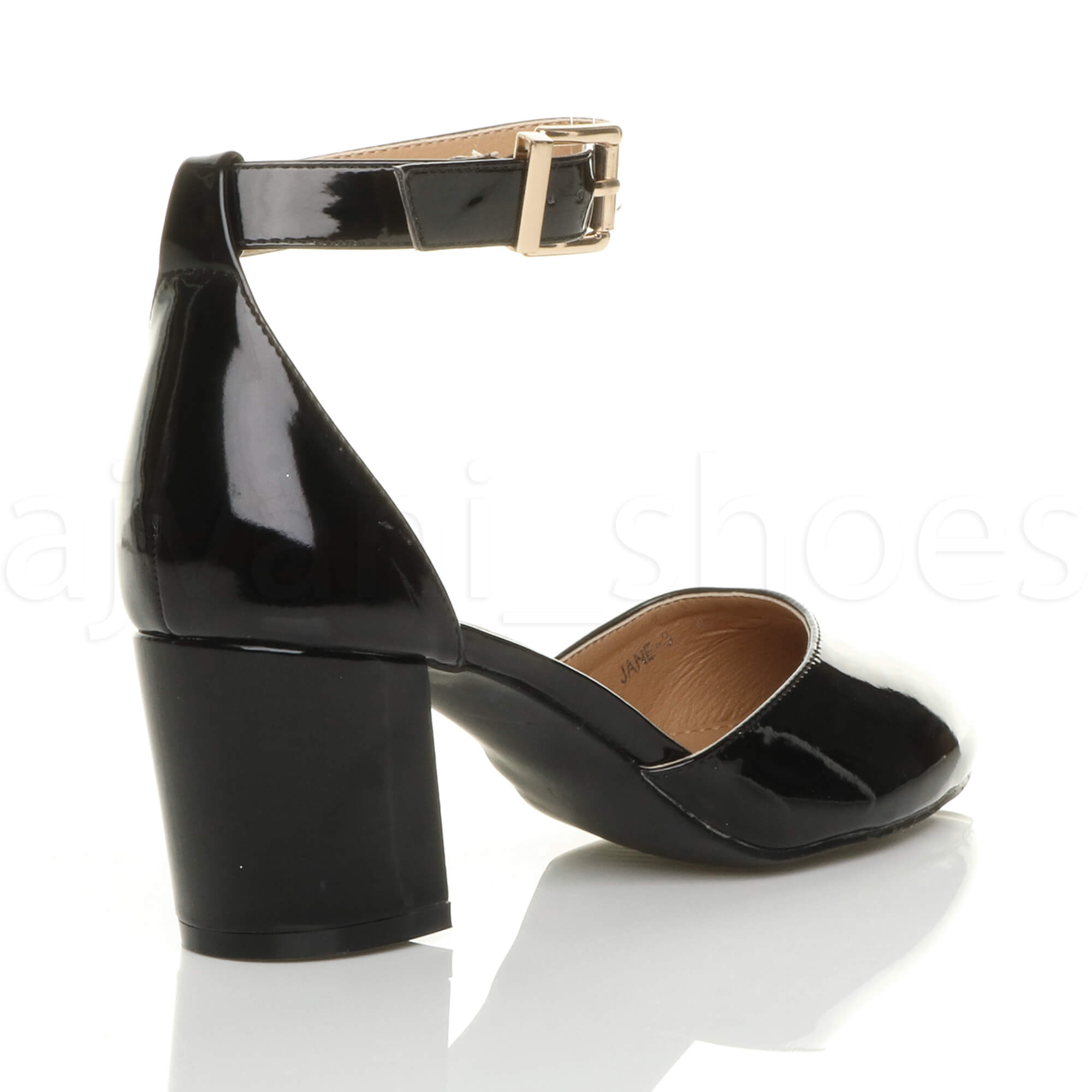 WOMENS-LADIES-LOW-MID-BLOCK-HEEL-ANKLE-STRAP-MARY-JANE-COURT-SHOES-SANDALS-SIZE thumbnail 13
