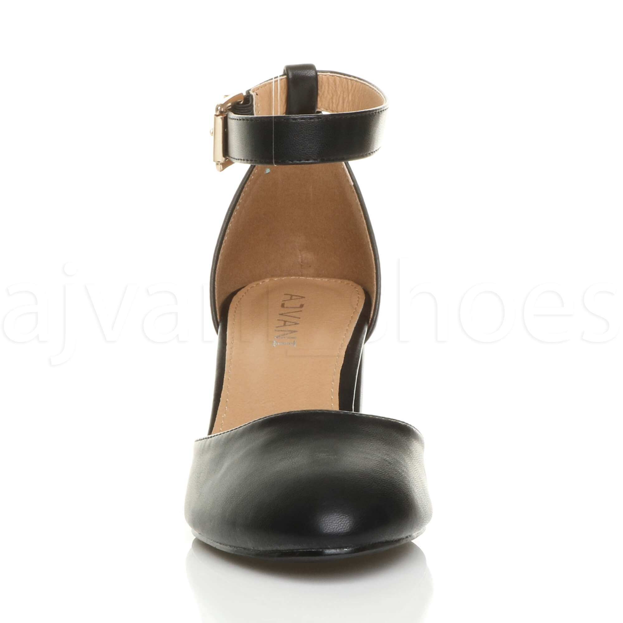 WOMENS-LADIES-LOW-MID-BLOCK-HEEL-ANKLE-STRAP-MARY-JANE-COURT-SHOES-SANDALS-SIZE thumbnail 7