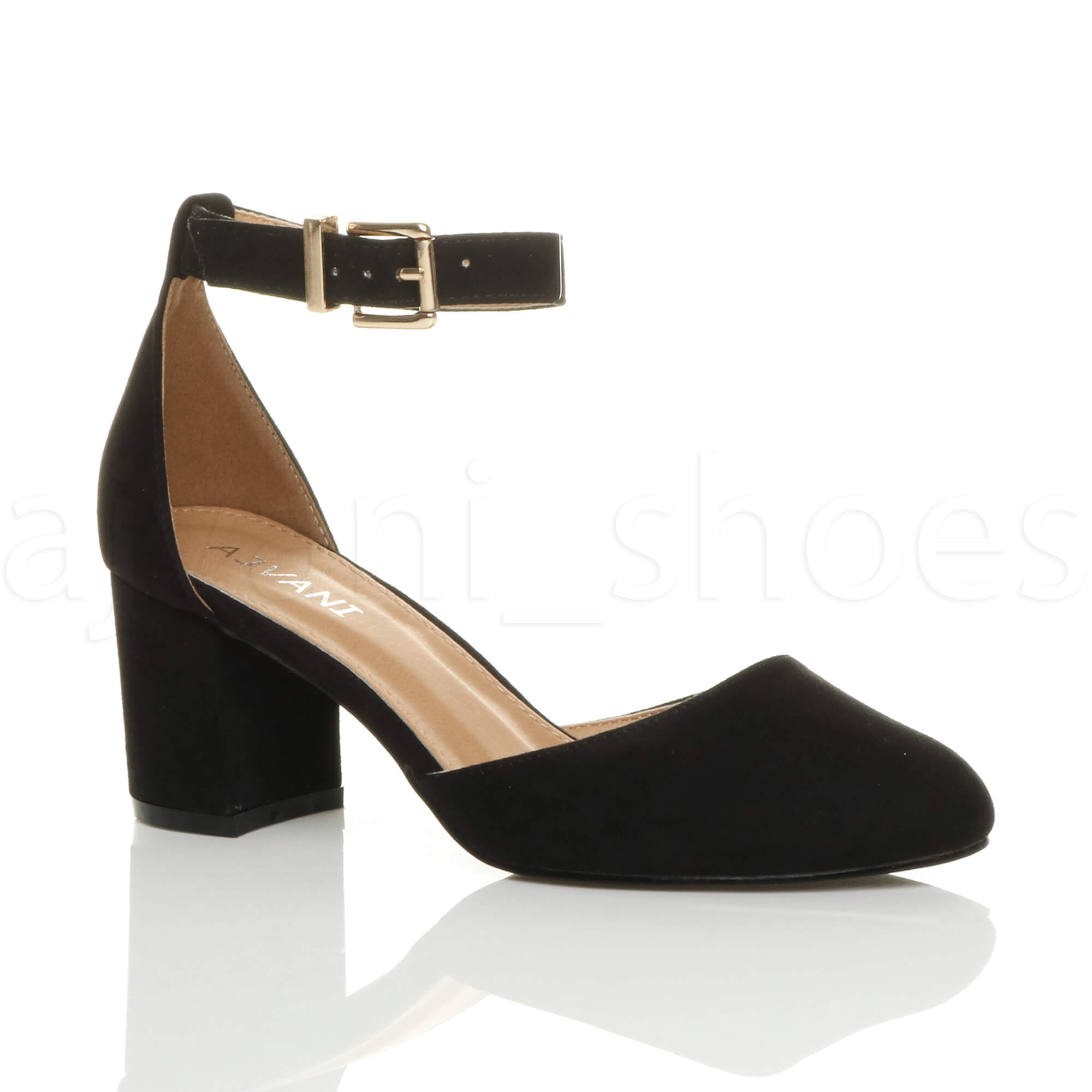 Gold Low Heel Women Shoes