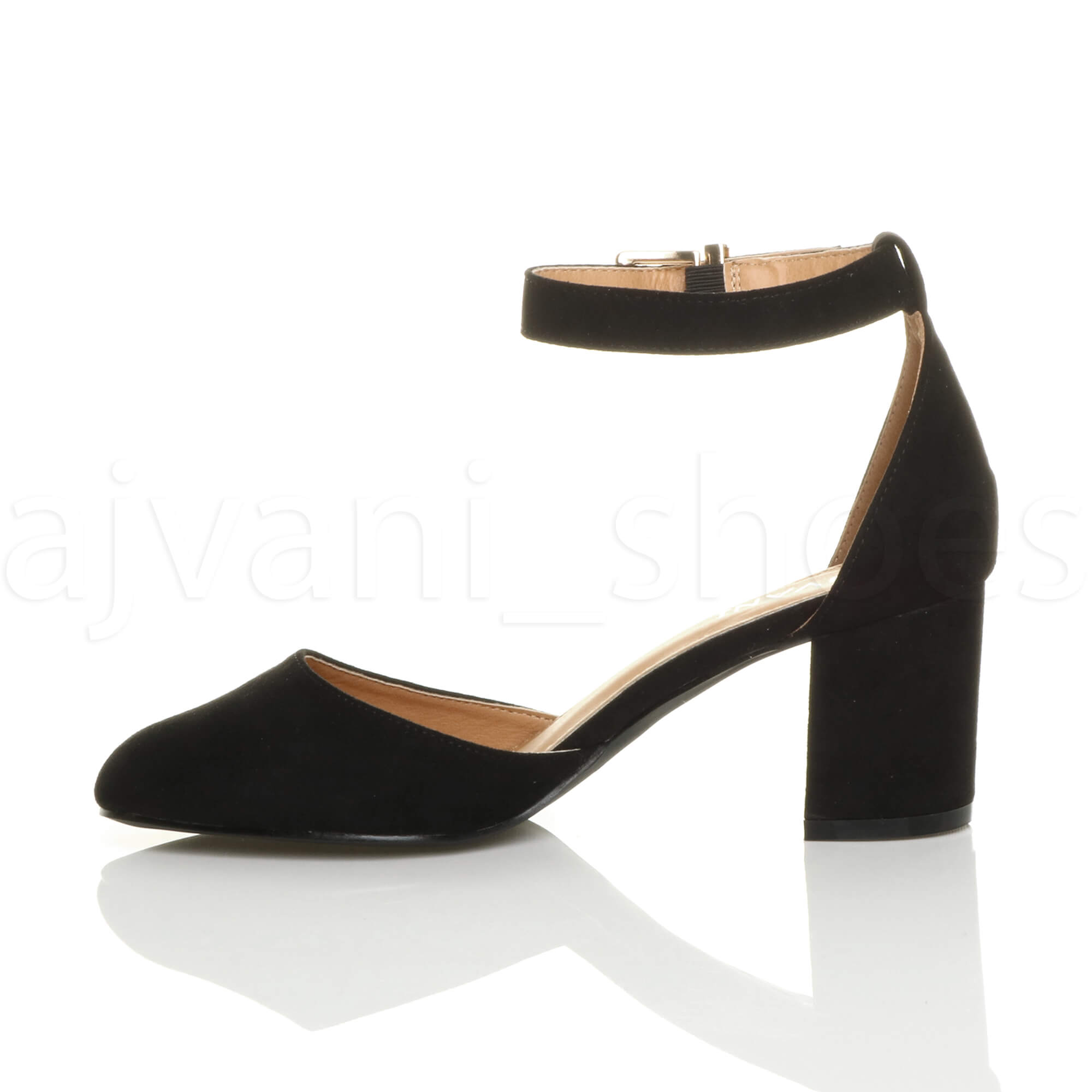 WOMENS-LADIES-LOW-MID-BLOCK-HEEL-ANKLE-STRAP-MARY-JANE-COURT-SHOES-SANDALS-SIZE thumbnail 20