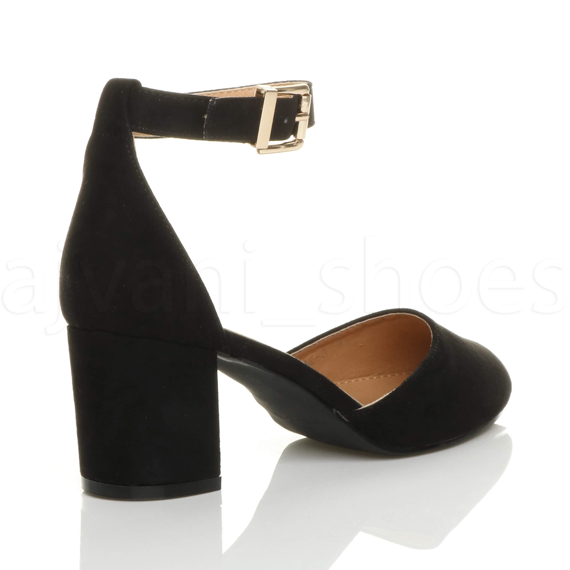 WOMENS-LADIES-LOW-MID-BLOCK-HEEL-ANKLE-STRAP-MARY-JANE-COURT-SHOES-SANDALS-SIZE thumbnail 21