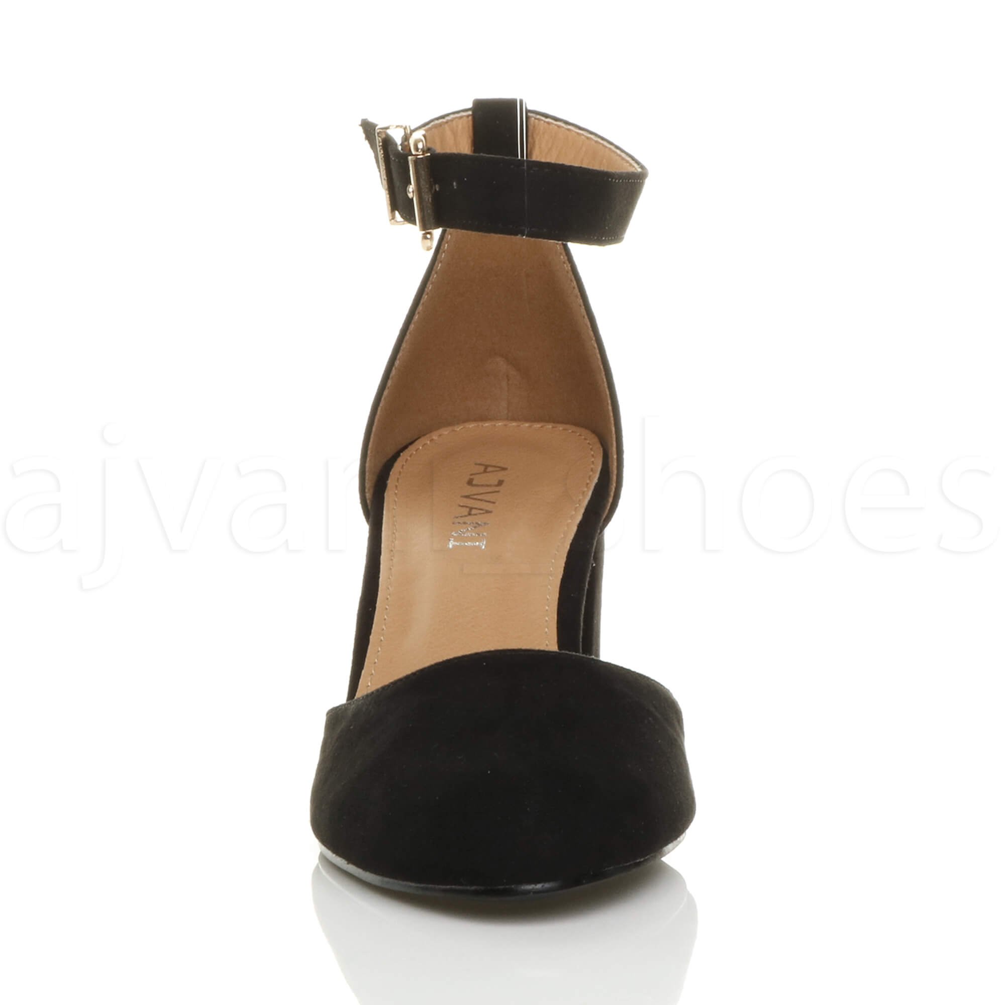 WOMENS-LADIES-LOW-MID-BLOCK-HEEL-ANKLE-STRAP-MARY-JANE-COURT-SHOES-SANDALS-SIZE thumbnail 23