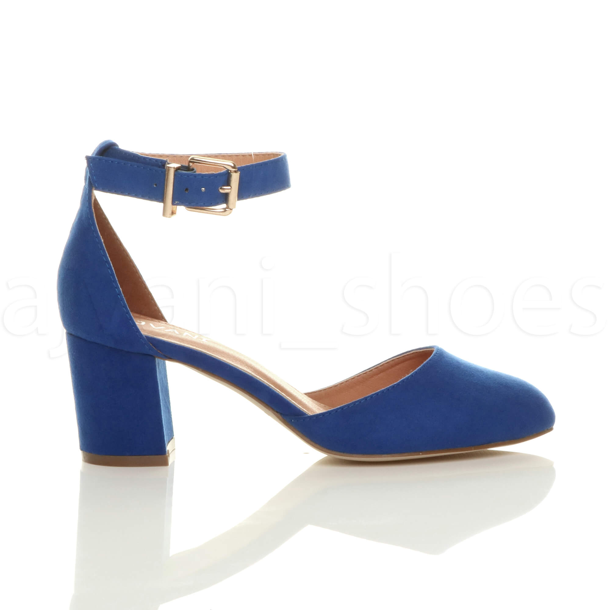 WOMENS-LADIES-LOW-MID-BLOCK-HEEL-ANKLE-STRAP-MARY-JANE-COURT-SHOES-SANDALS-SIZE thumbnail 27