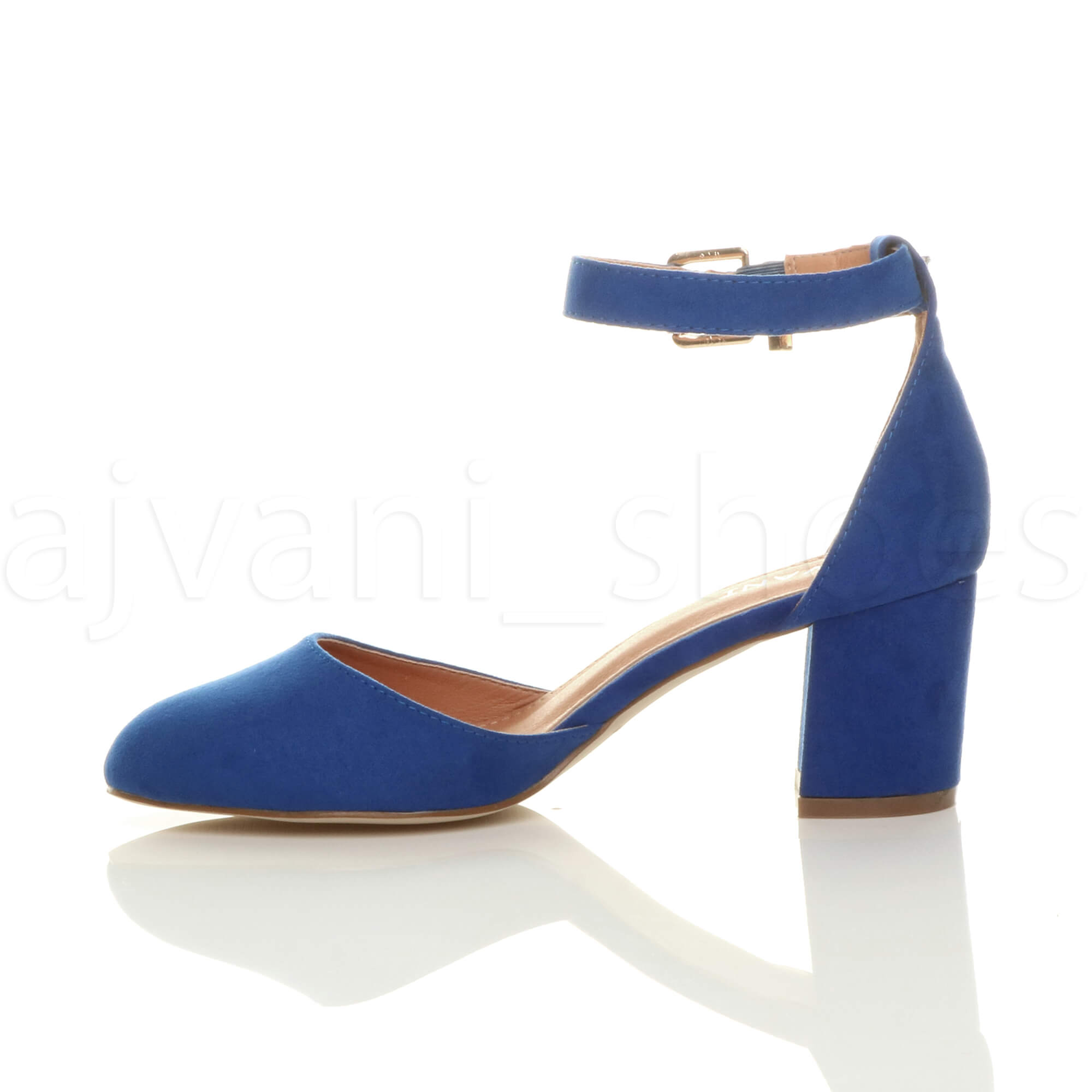 WOMENS-LADIES-LOW-MID-BLOCK-HEEL-ANKLE-STRAP-MARY-JANE-COURT-SHOES-SANDALS-SIZE thumbnail 28
