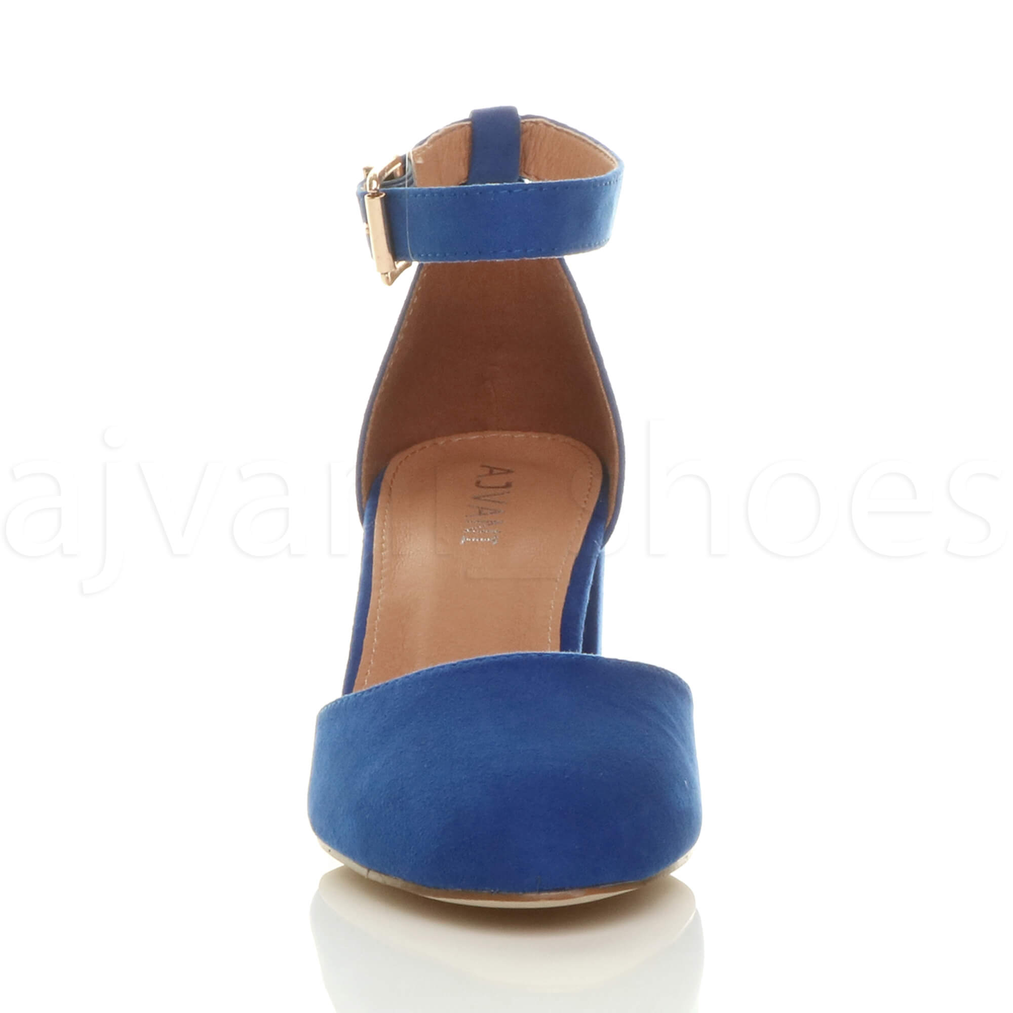 WOMENS-LADIES-LOW-MID-BLOCK-HEEL-ANKLE-STRAP-MARY-JANE-COURT-SHOES-SANDALS-SIZE thumbnail 31