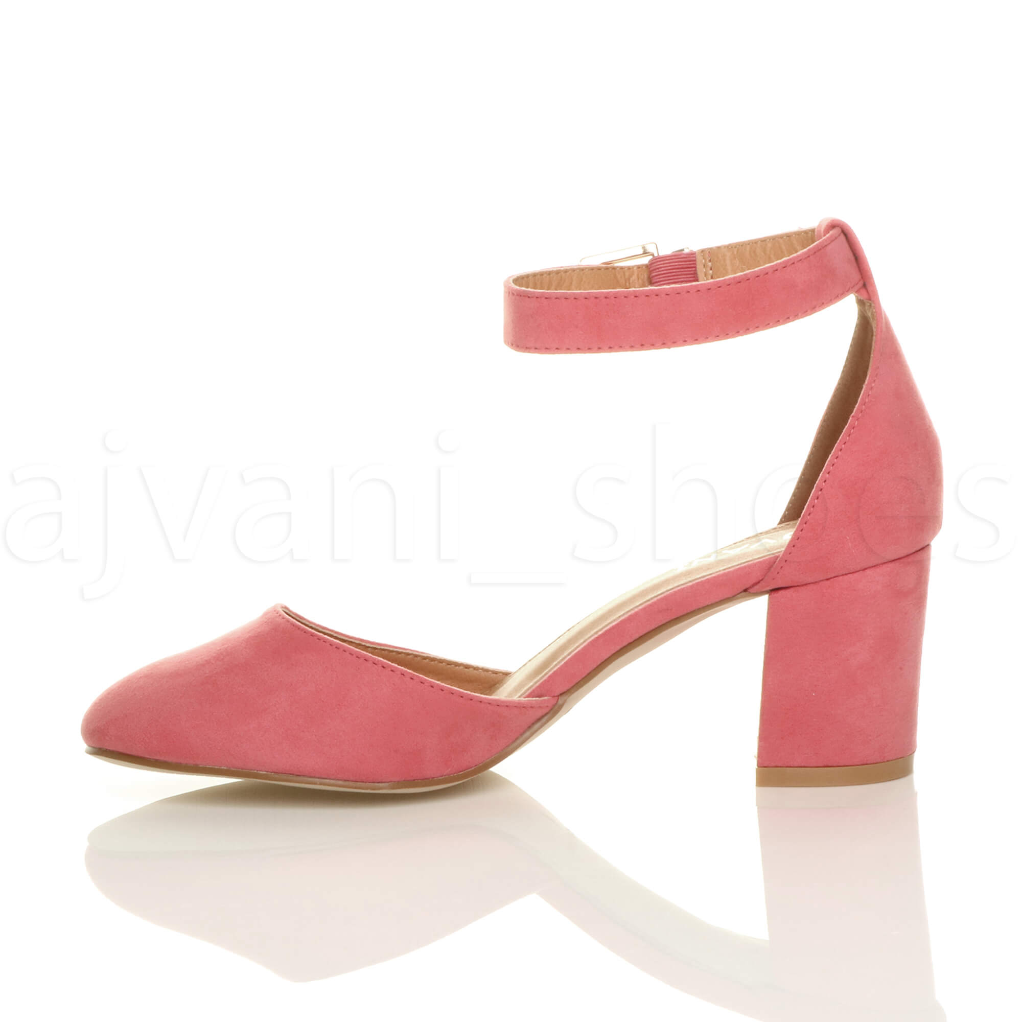 WOMENS-LADIES-LOW-MID-BLOCK-HEEL-ANKLE-STRAP-MARY-JANE-COURT-SHOES-SANDALS-SIZE thumbnail 36