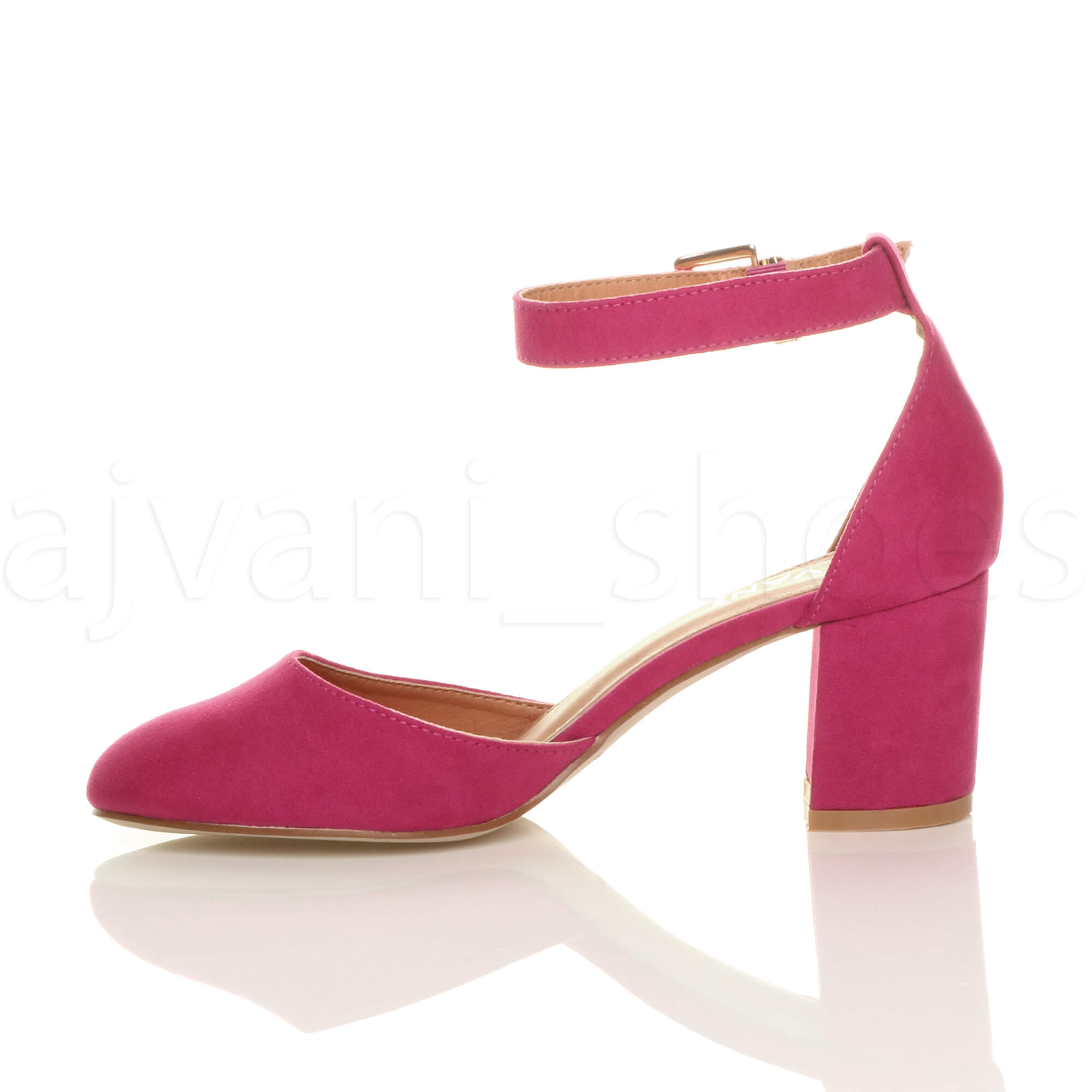 WOMENS-LADIES-LOW-MID-BLOCK-HEEL-ANKLE-STRAP-MARY-JANE-COURT-SHOES-SANDALS-SIZE thumbnail 44