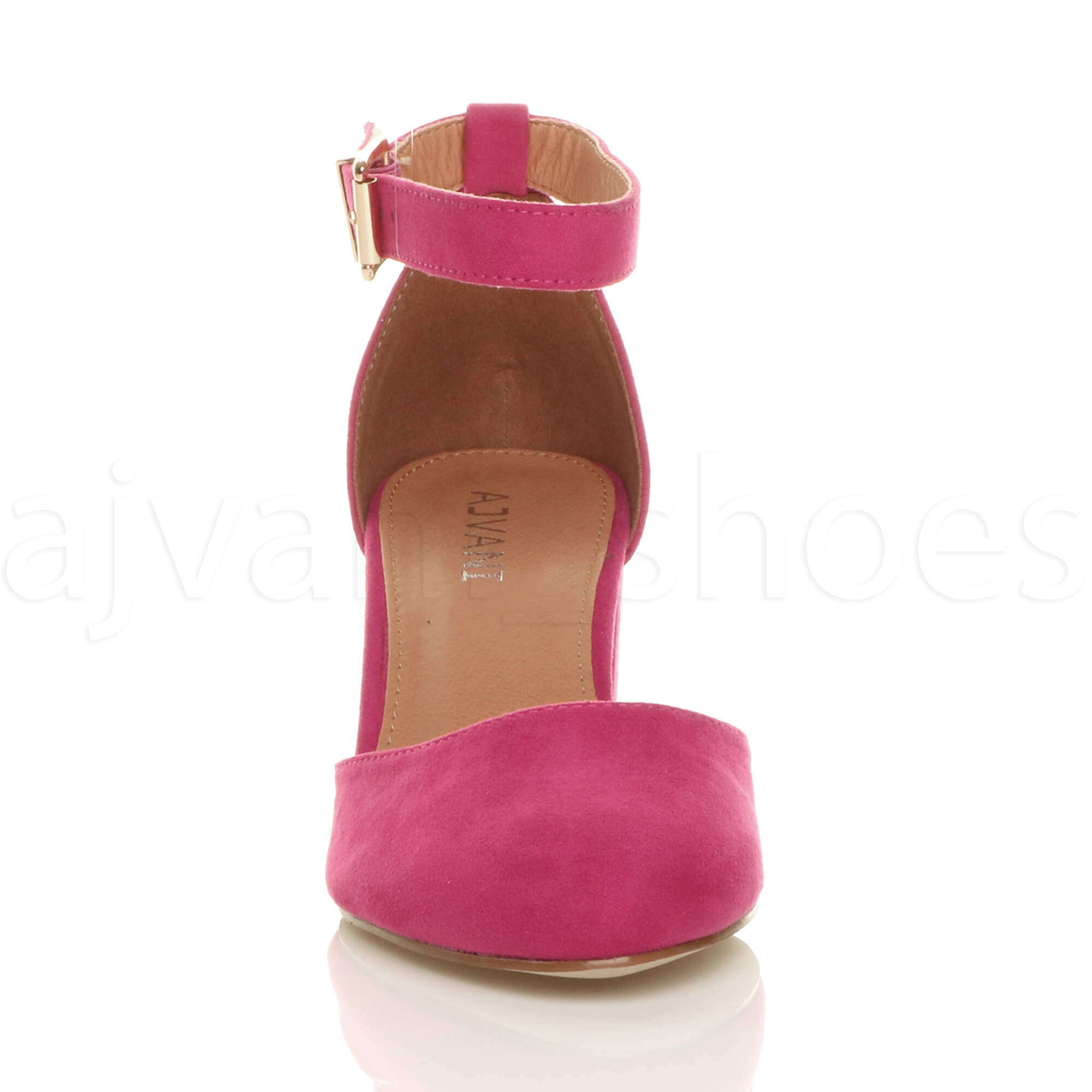 WOMENS-LADIES-LOW-MID-BLOCK-HEEL-ANKLE-STRAP-MARY-JANE-COURT-SHOES-SANDALS-SIZE thumbnail 47