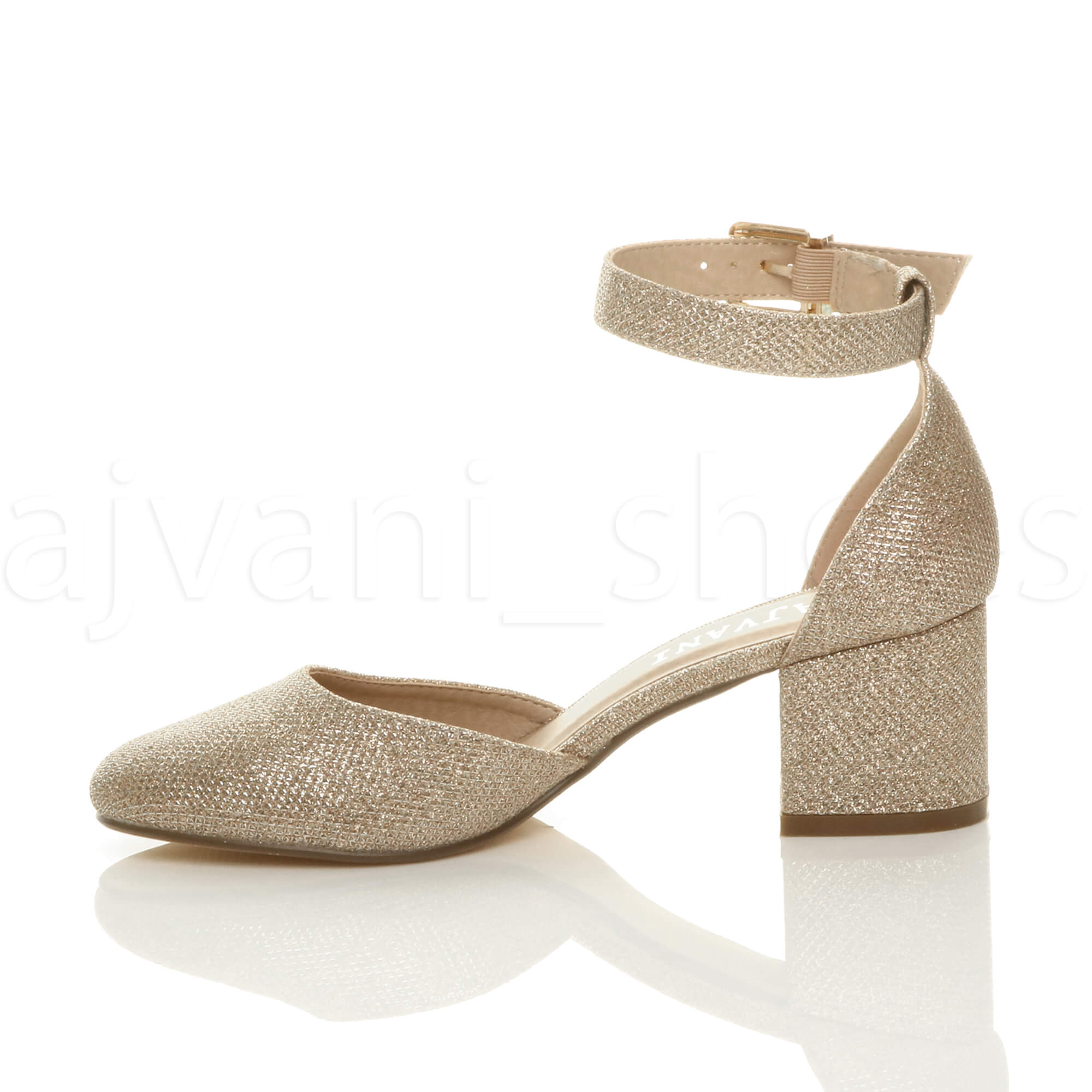 WOMENS-LADIES-LOW-MID-BLOCK-HEEL-ANKLE-STRAP-MARY-JANE-COURT-SHOES-SANDALS-SIZE thumbnail 60