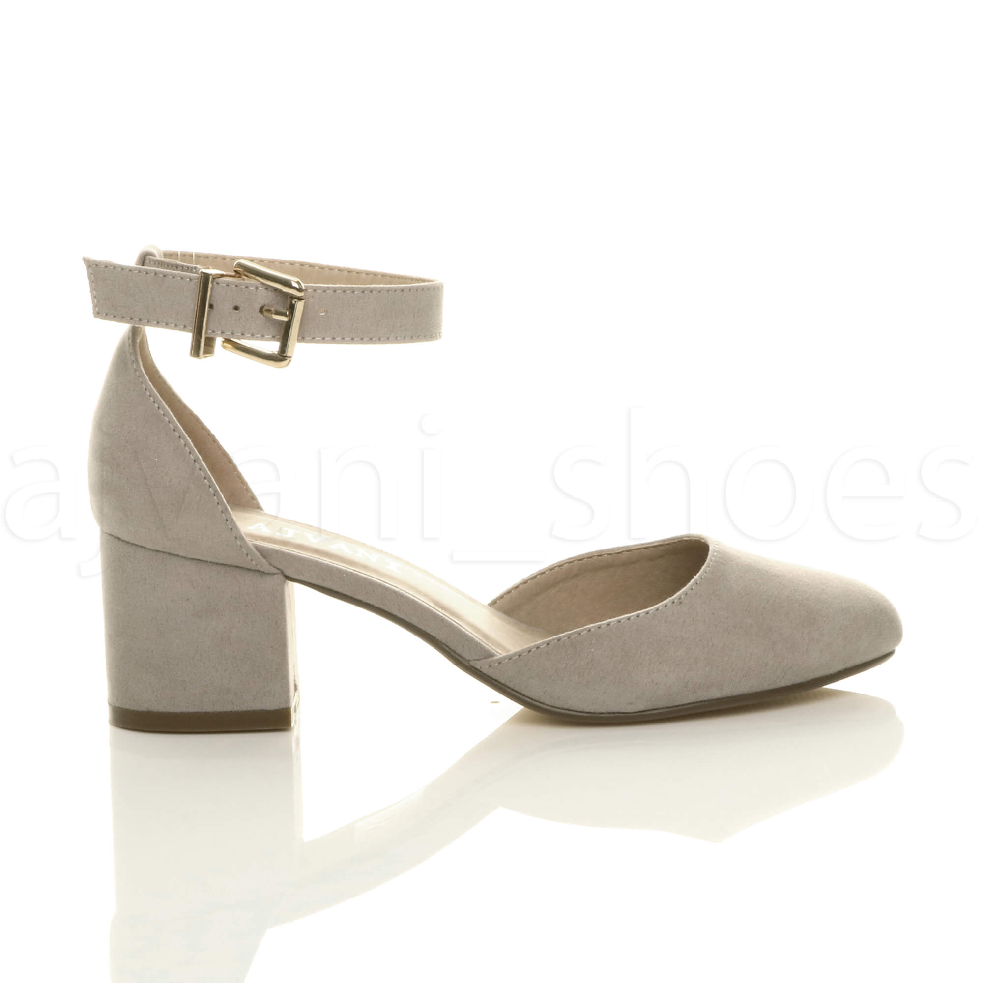 WOMENS-LADIES-LOW-MID-BLOCK-HEEL-ANKLE-STRAP-MARY-JANE-COURT-SHOES-SANDALS-SIZE thumbnail 67