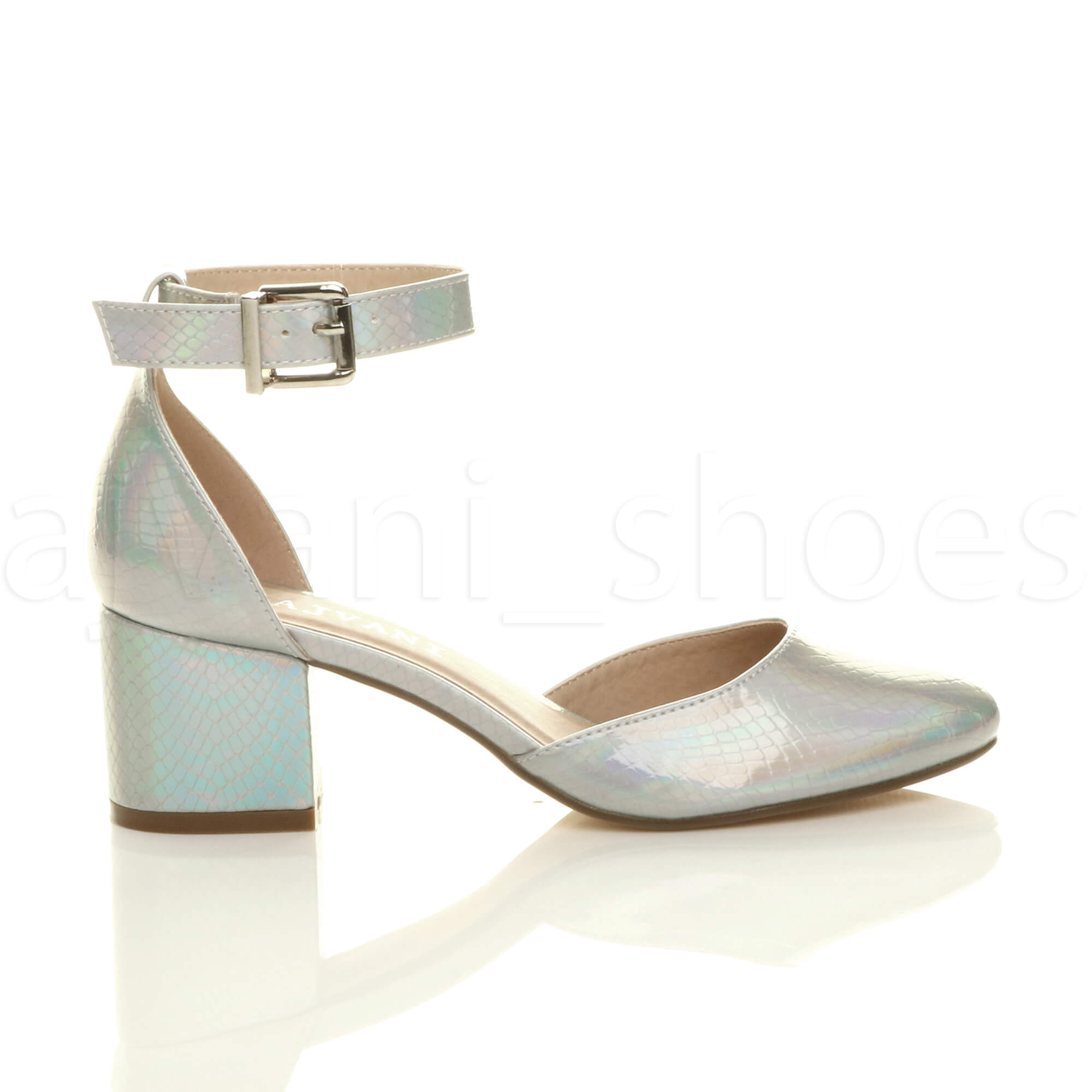 WOMENS-LADIES-LOW-MID-BLOCK-HEEL-ANKLE-STRAP-MARY-JANE-COURT-SHOES-SANDALS-SIZE thumbnail 163