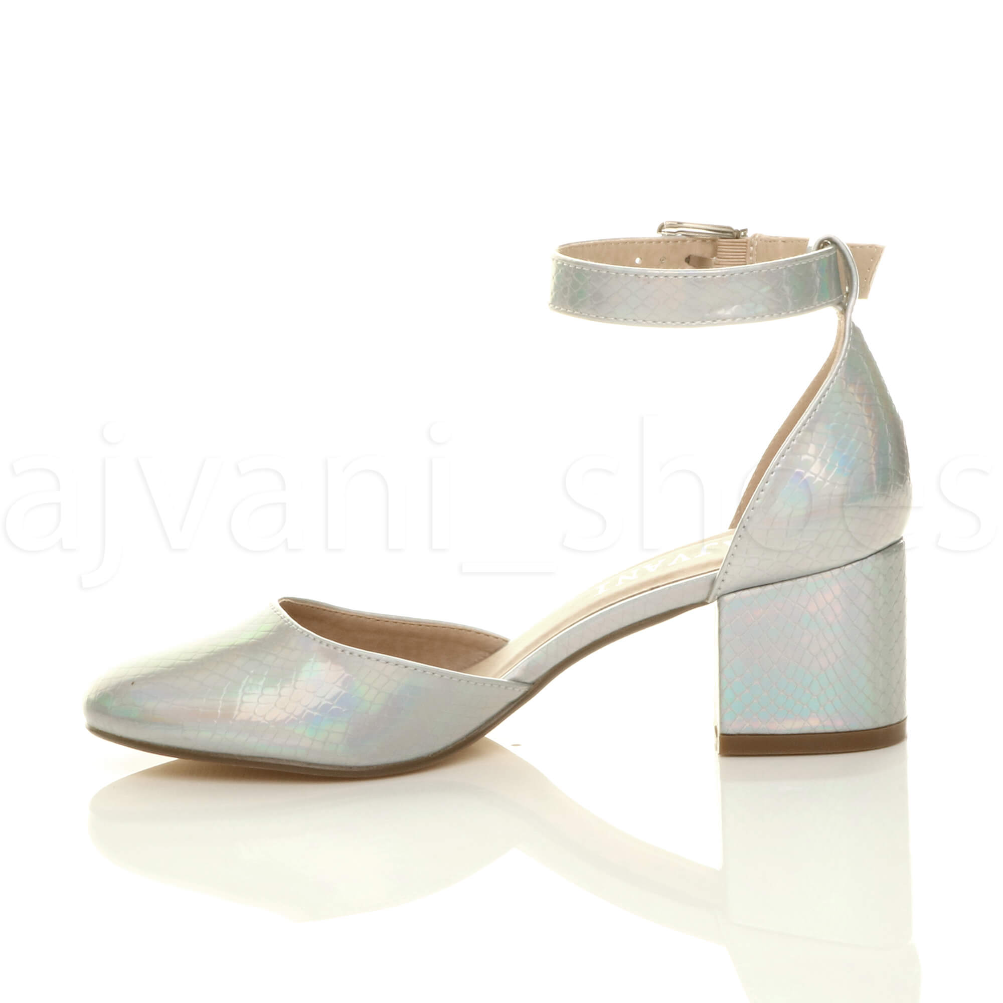 WOMENS-LADIES-LOW-MID-BLOCK-HEEL-ANKLE-STRAP-MARY-JANE-COURT-SHOES-SANDALS-SIZE thumbnail 164