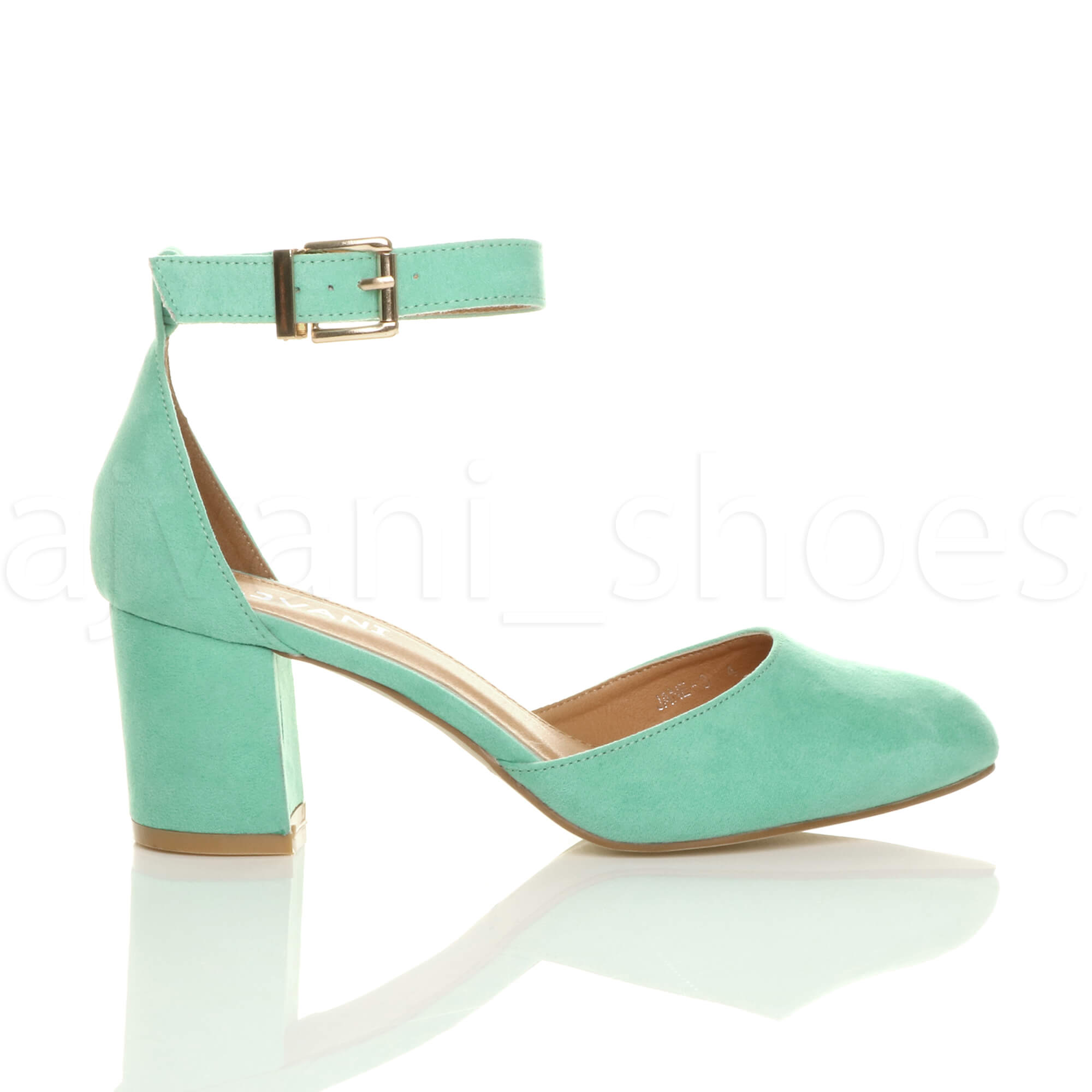 WOMENS-LADIES-LOW-MID-BLOCK-HEEL-ANKLE-STRAP-MARY-JANE-COURT-SHOES-SANDALS-SIZE thumbnail 75